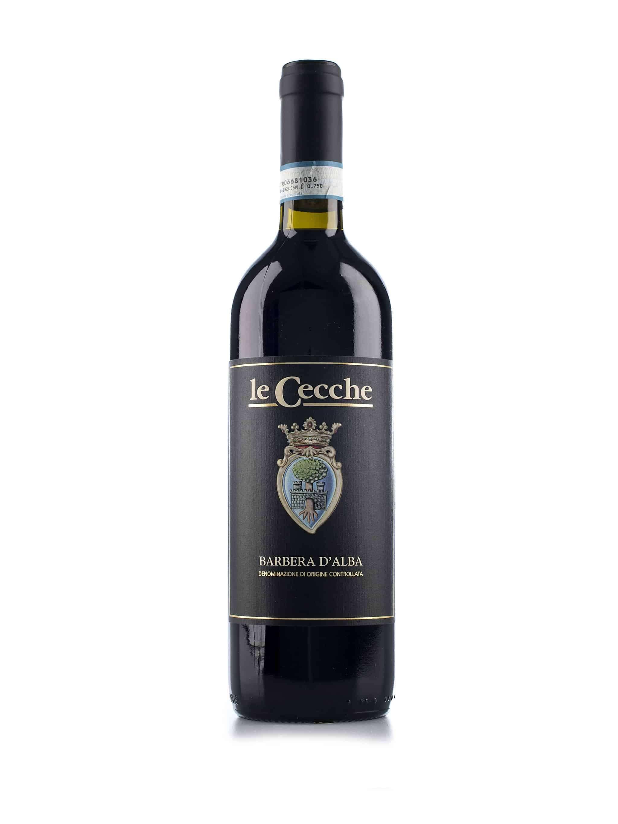 Italiaanse rode wijn van wijndomein Le Cecche: Barbera d'Alba