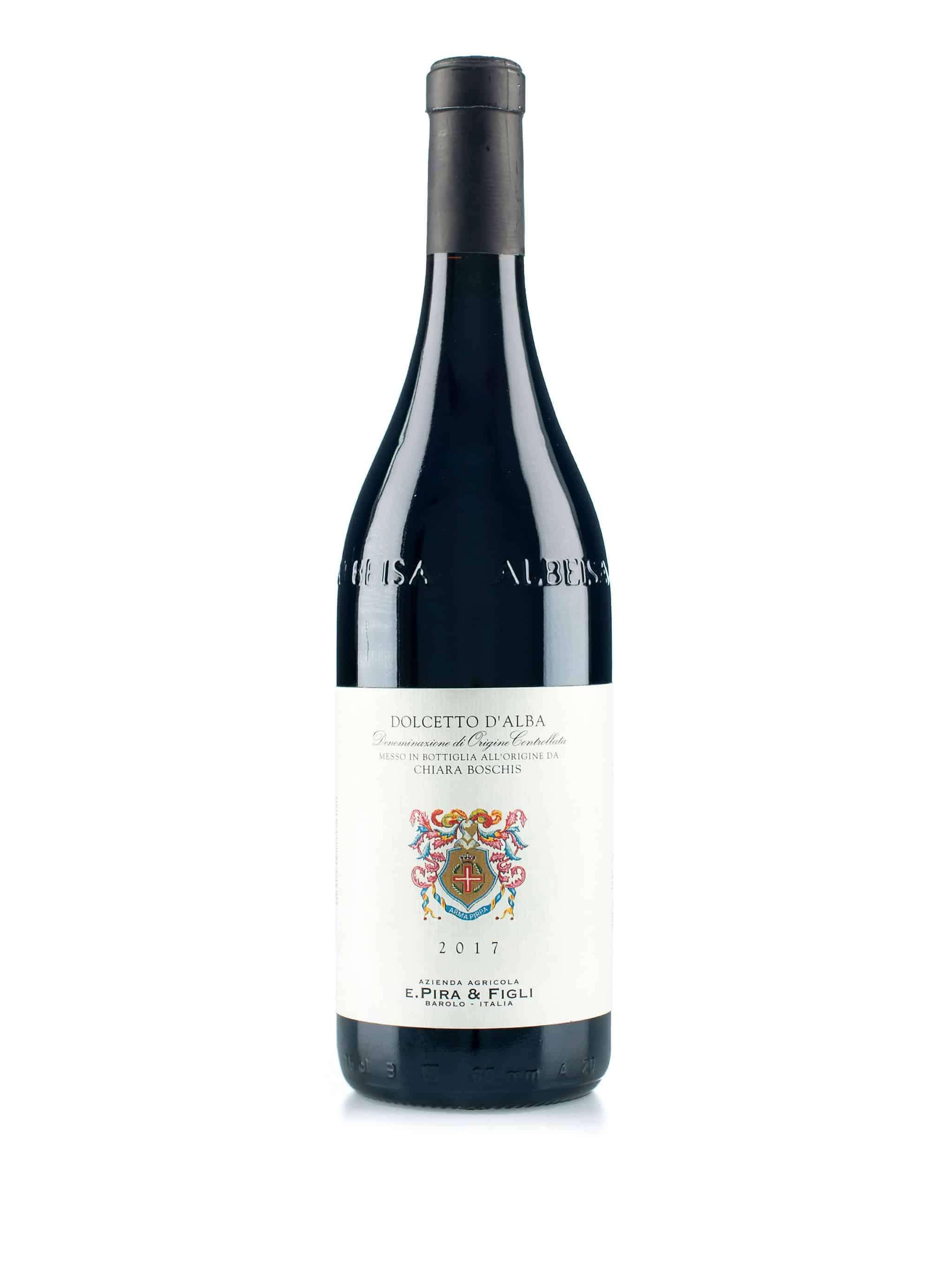 Italiaanse rode wijn van wijndomein Pira & Figli: Dolcetto d'Alba