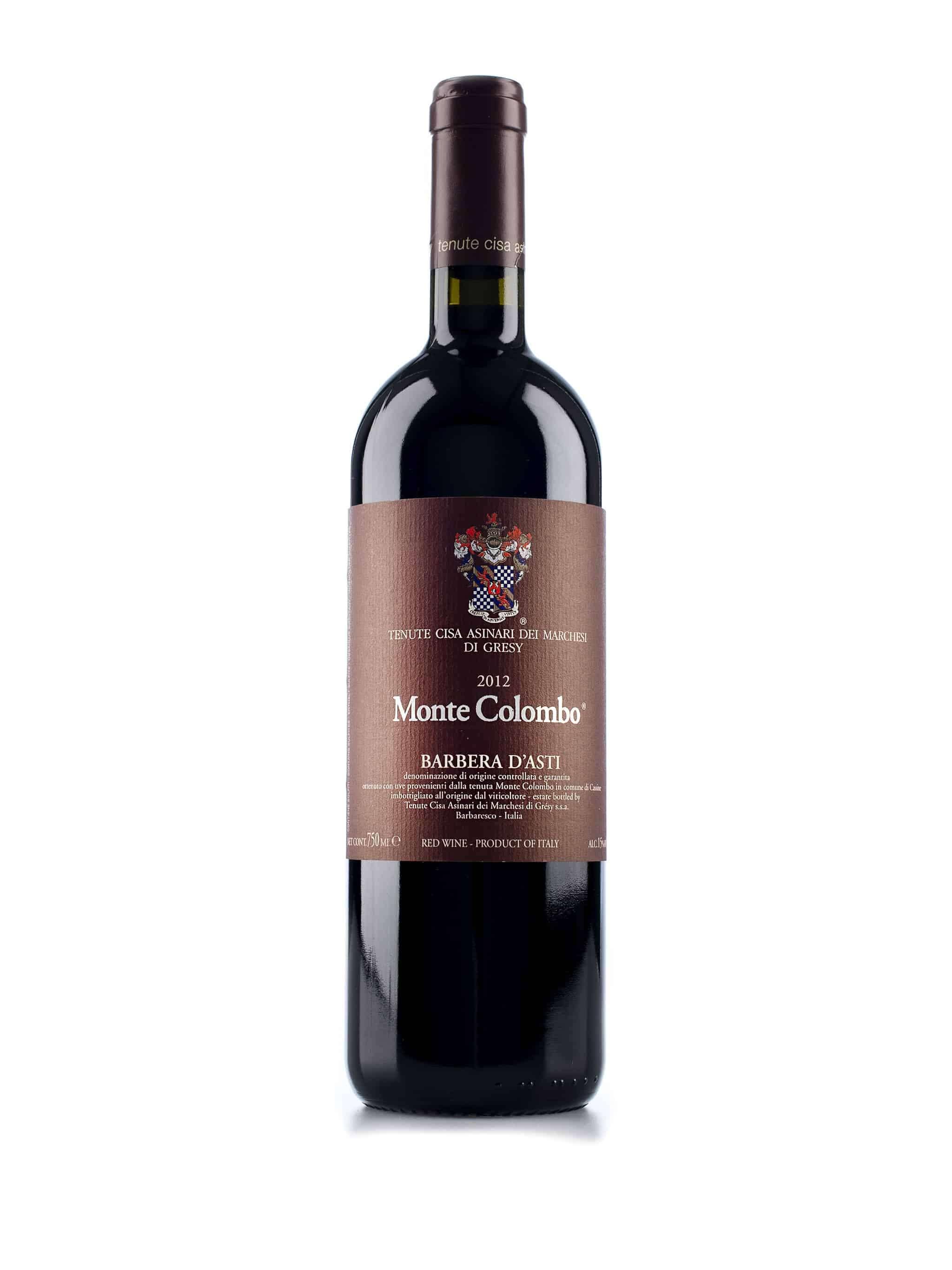 Italiaanse rode wijn van wijndomein Cisa Asinari dei Marchesi di Gresy: Barbera d'Asti Monte Colombo