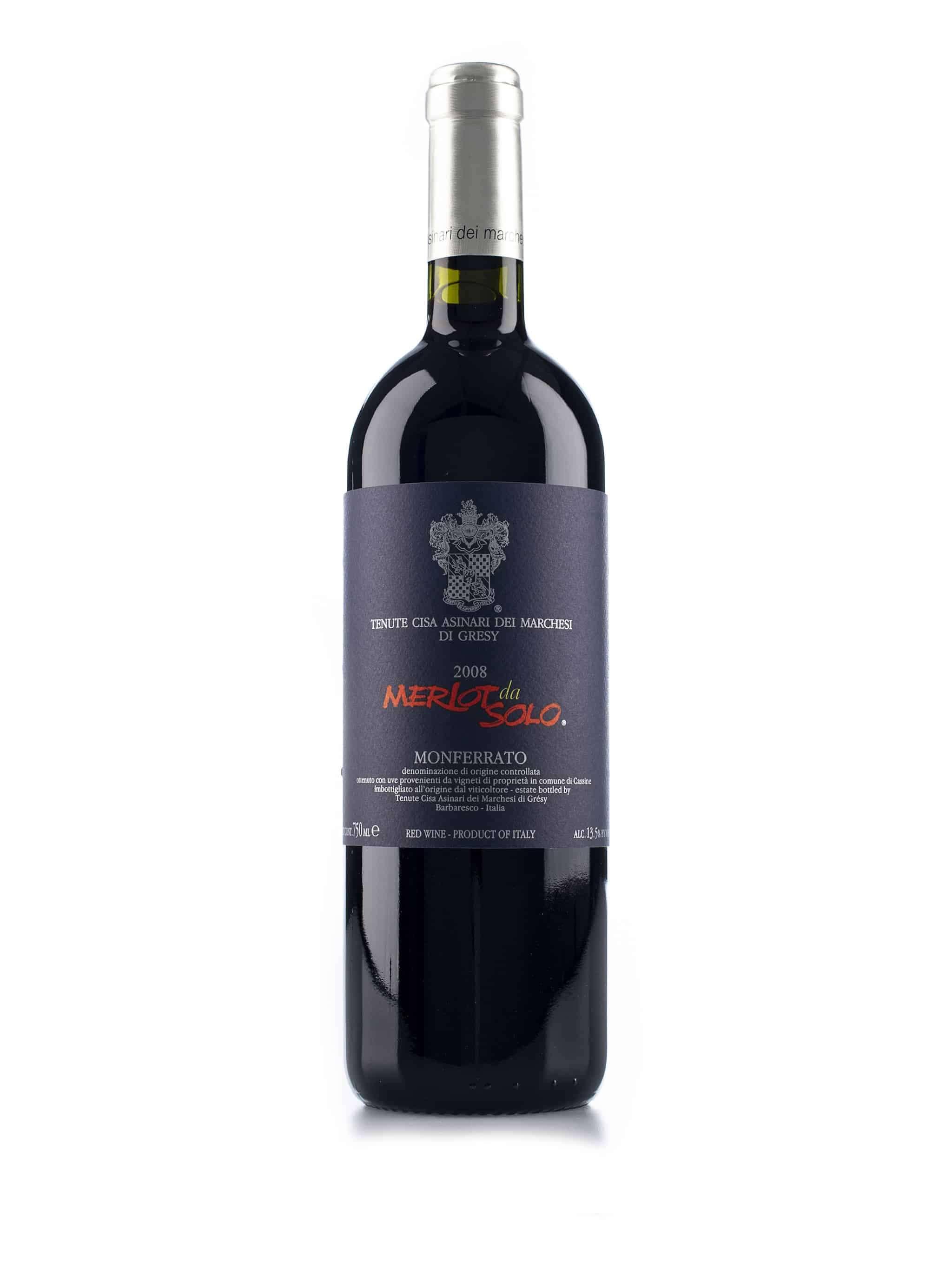 Italiaanse rode wijn van wijndomein Cisa Asinari dei Marchesi di Gresy: Merlot da Solo Monferrato