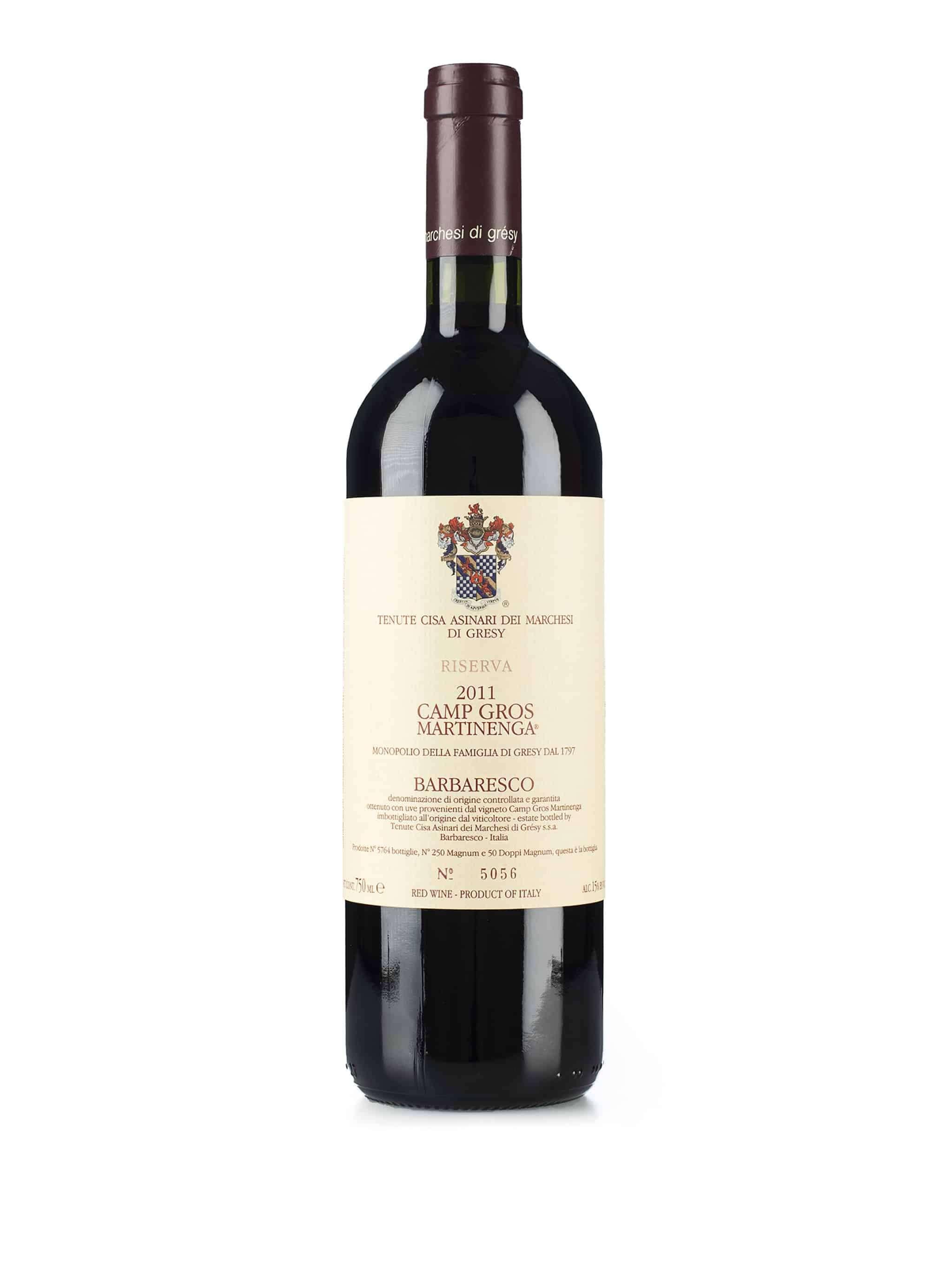 Italiaanse rode wijn van wijndomein Cisa Asinari dei Marchesi di Gresy: Barbaresco 'Camp Gros' Martinenga