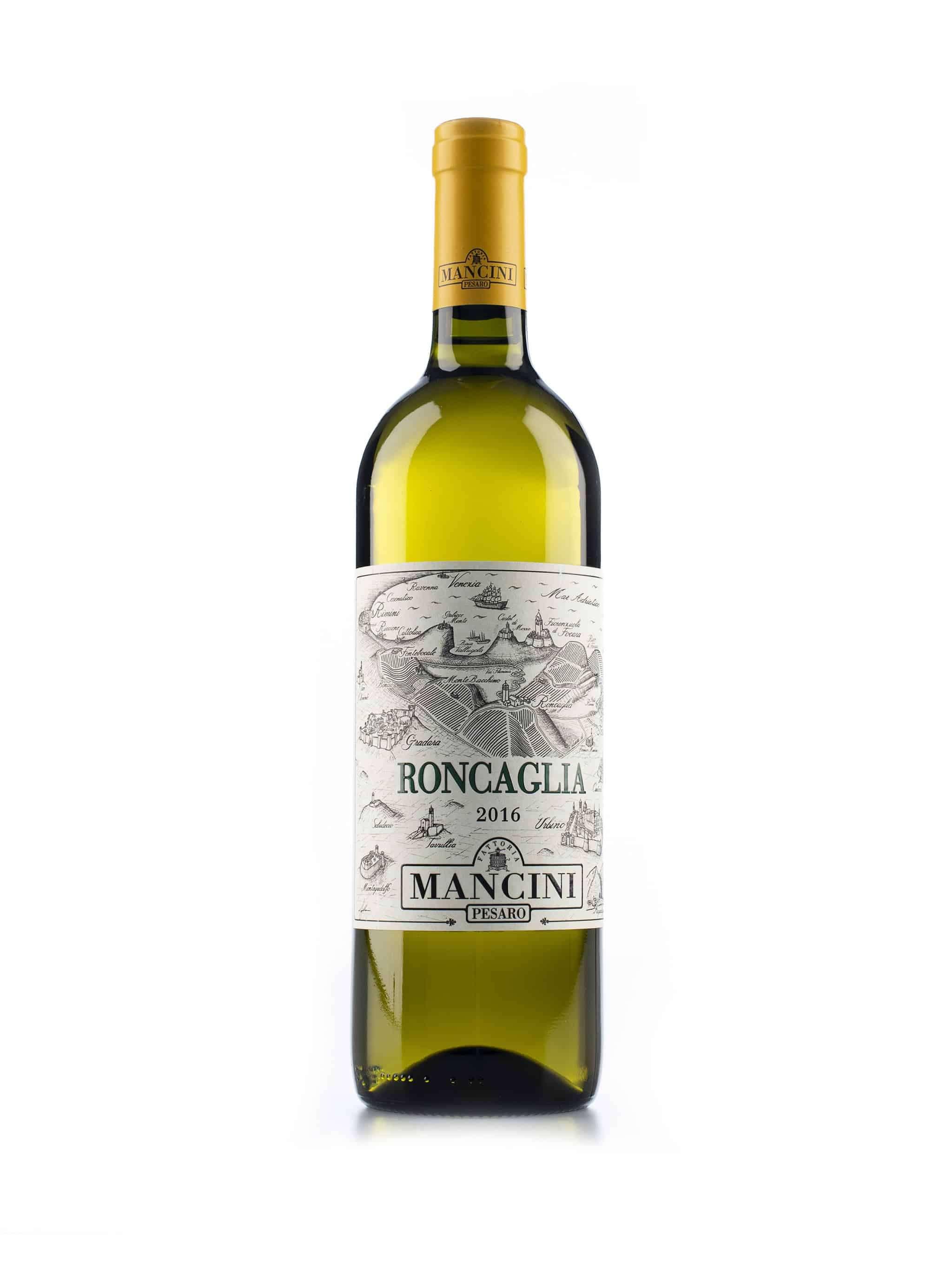 Italiaanse witte wijn van wijndomein Mancini: Colli Pesaresi 'Roncaglia'