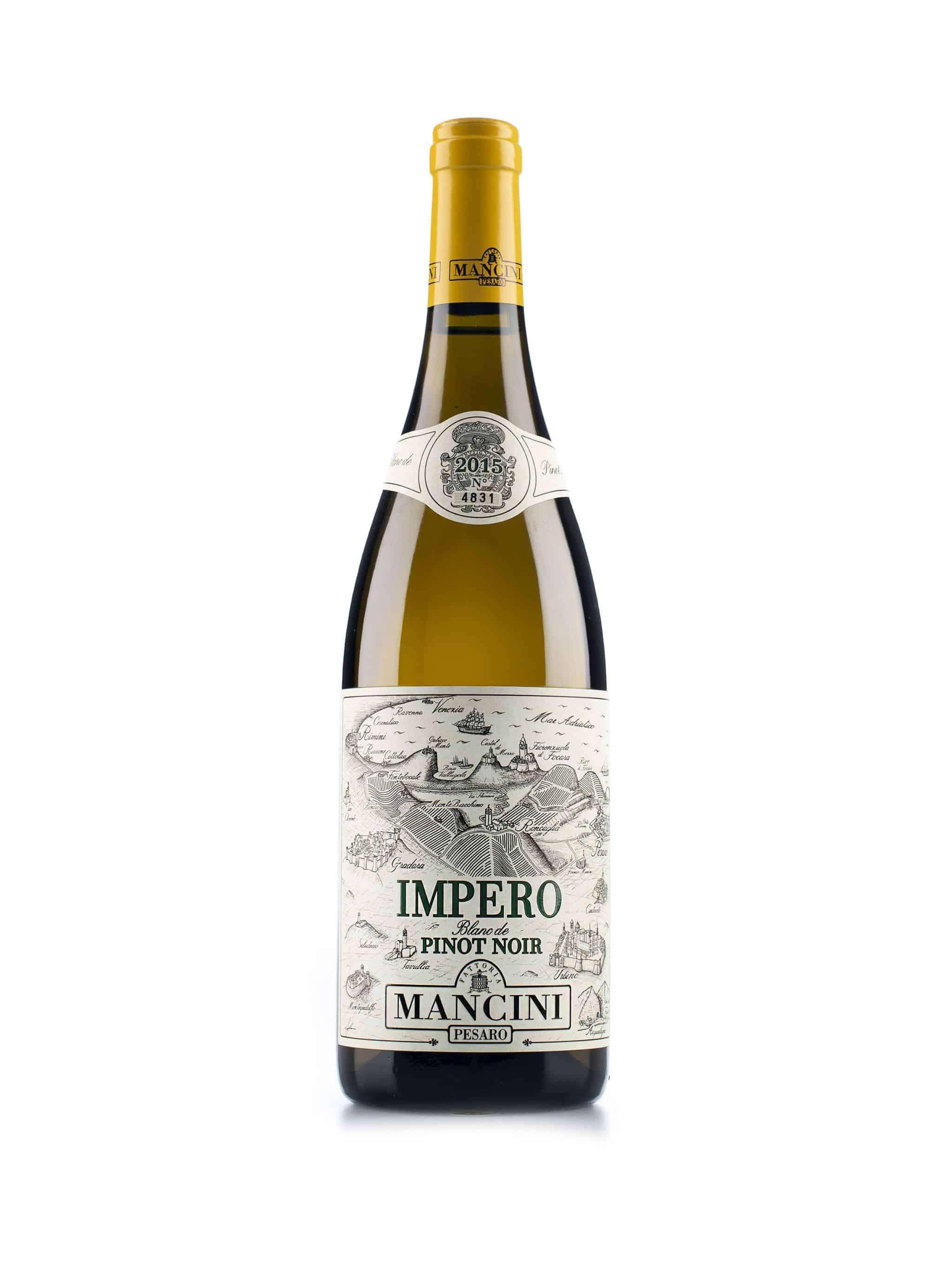 Italiaanse witte wijn van wijndomein Mancini: Colli Pesaresi 'Impero'