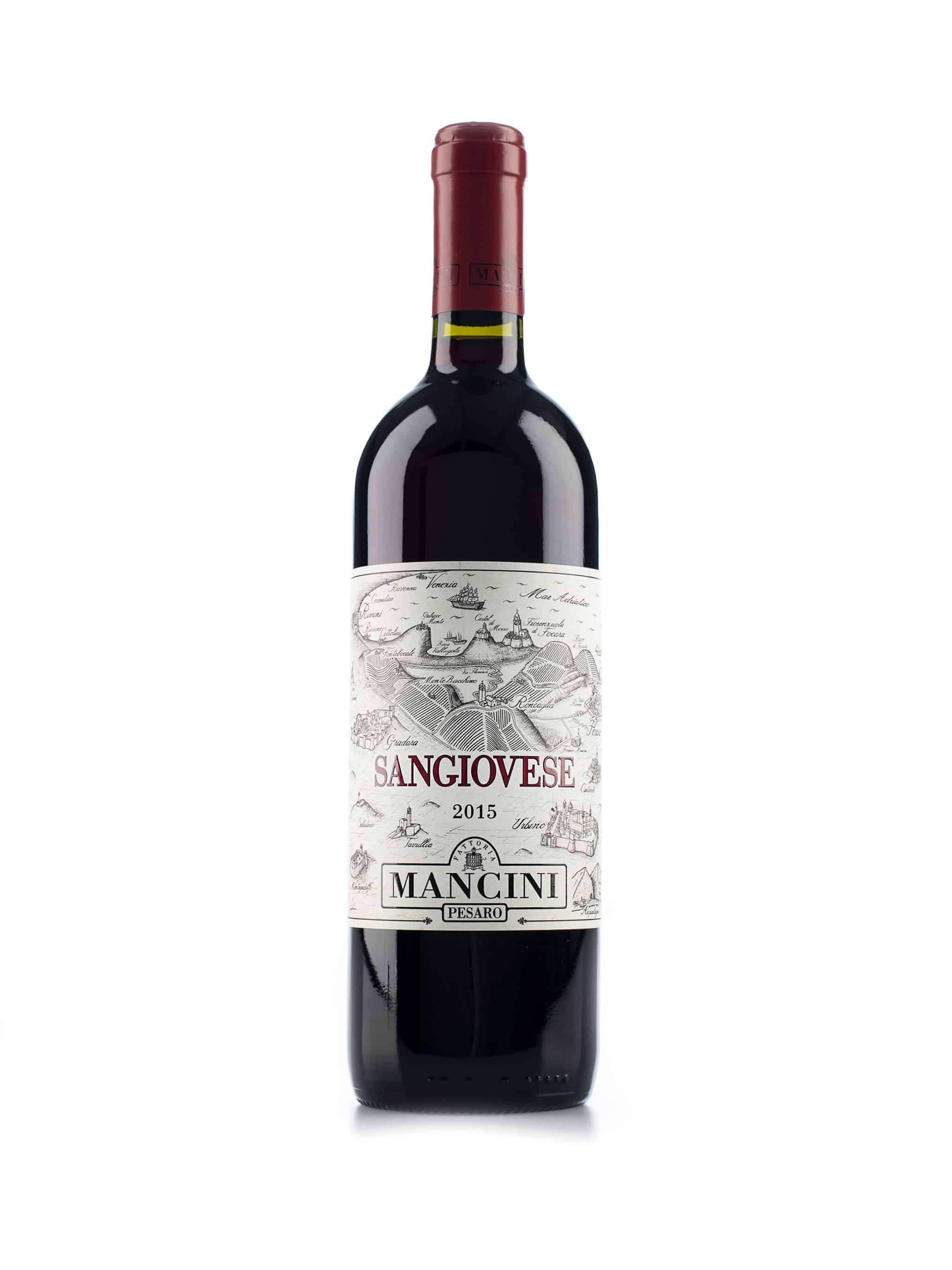 Italiaanse rode wijn van wijndomein Mancini: Colli Pesaresi 'Sangiovese'