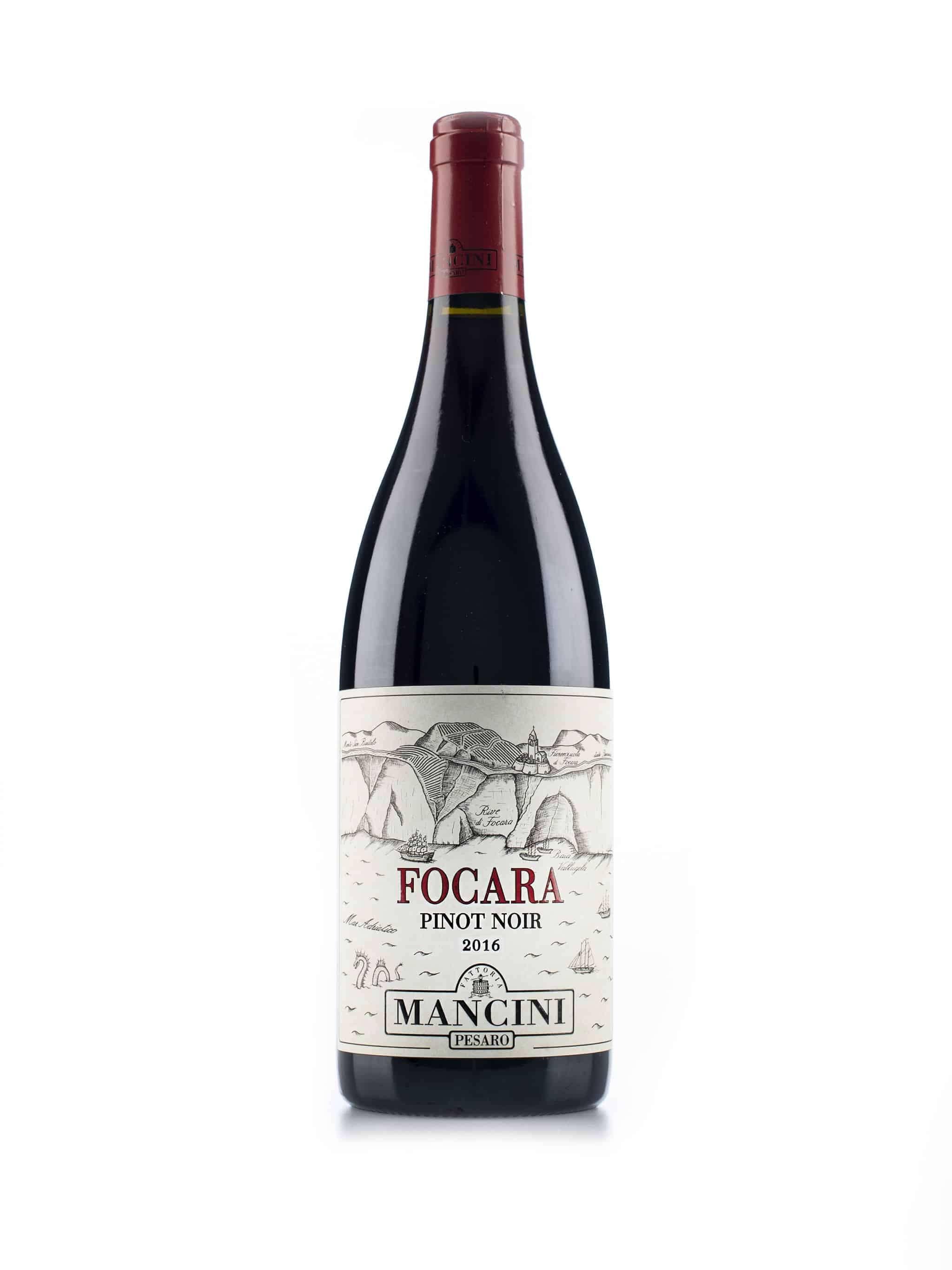 Italiaanse rode wijn van wijndomein Mancini: Pinot Noir 'Focara'