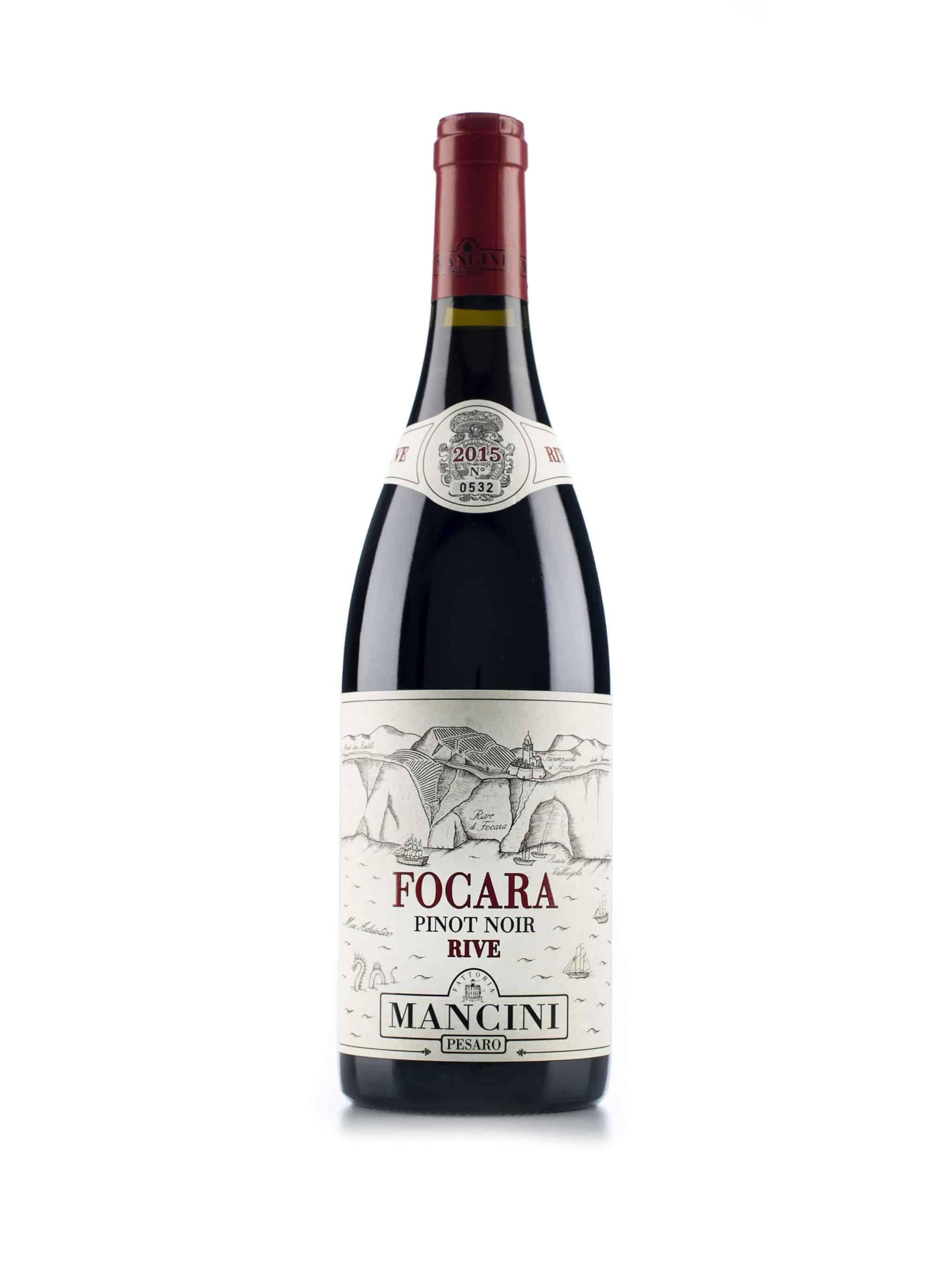 Italiaanse rode wijn van wijndomein Mancini: Pinot Noir 'Focara Rive'