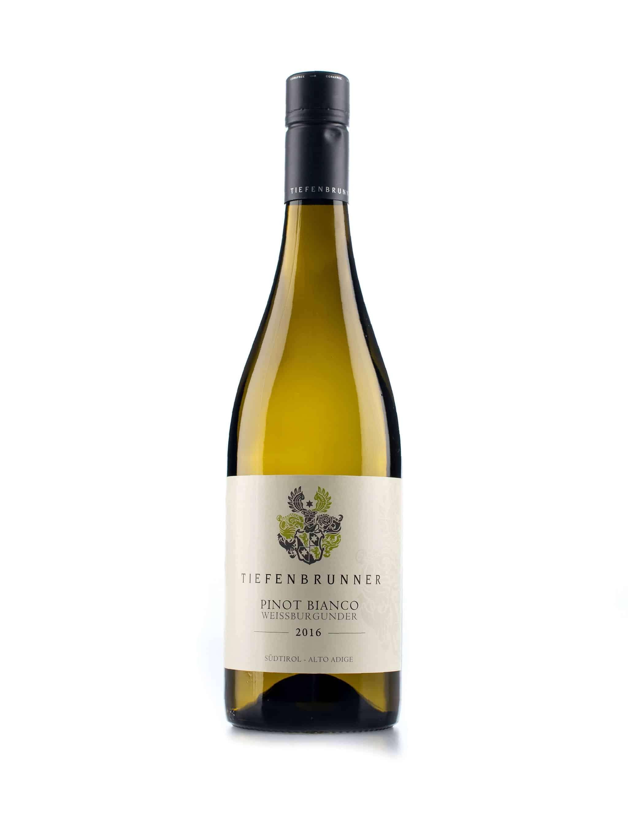 Italiaanse witte wijn van wijndomein Tiefenbrunner: Pinot Bianco
