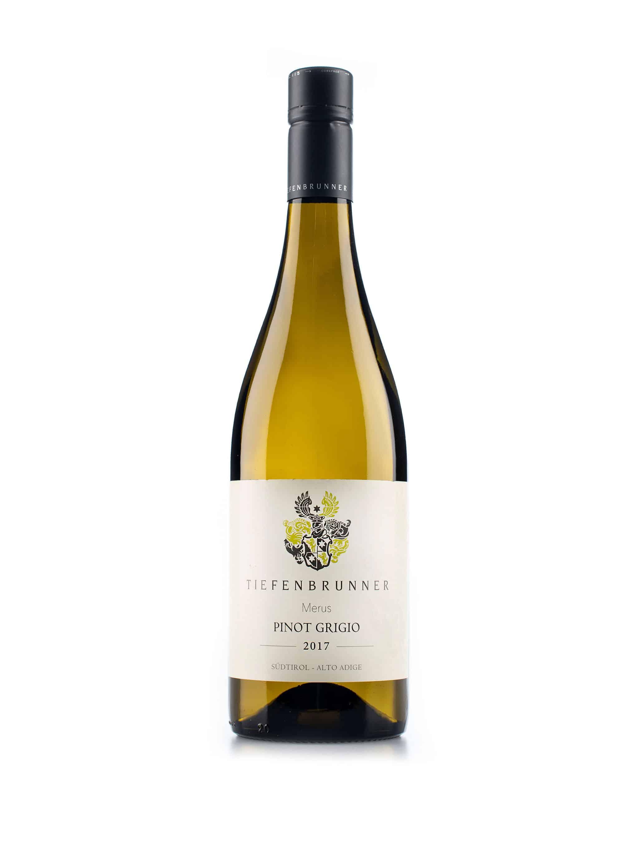 Italiaanse witte wijn van wijndomein Tiefenbrunner: Pinot Grigio