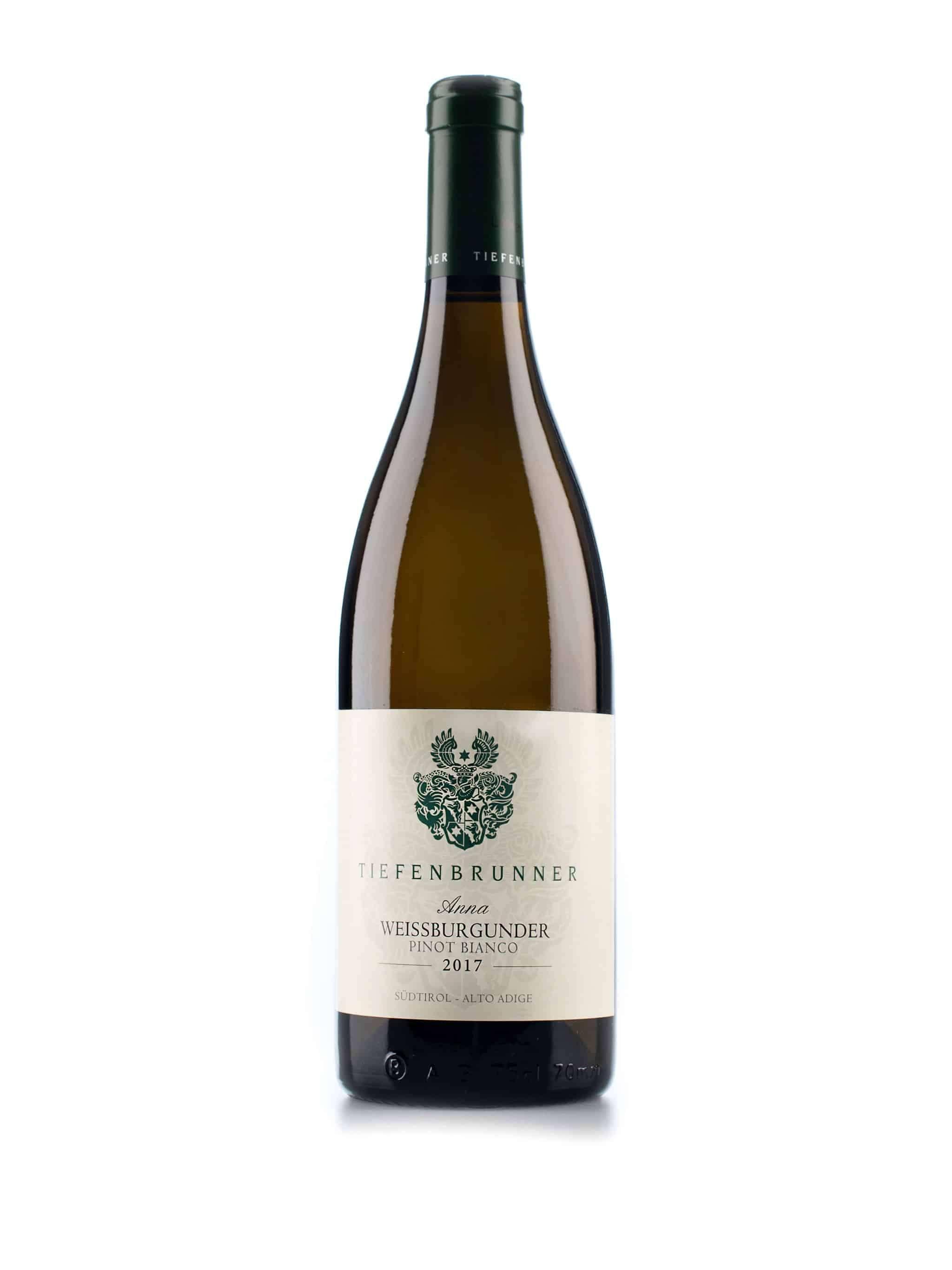 Italiaanse witte wijn van wijndomein Tiefenbrunner: Weissburgunder 'Anna'