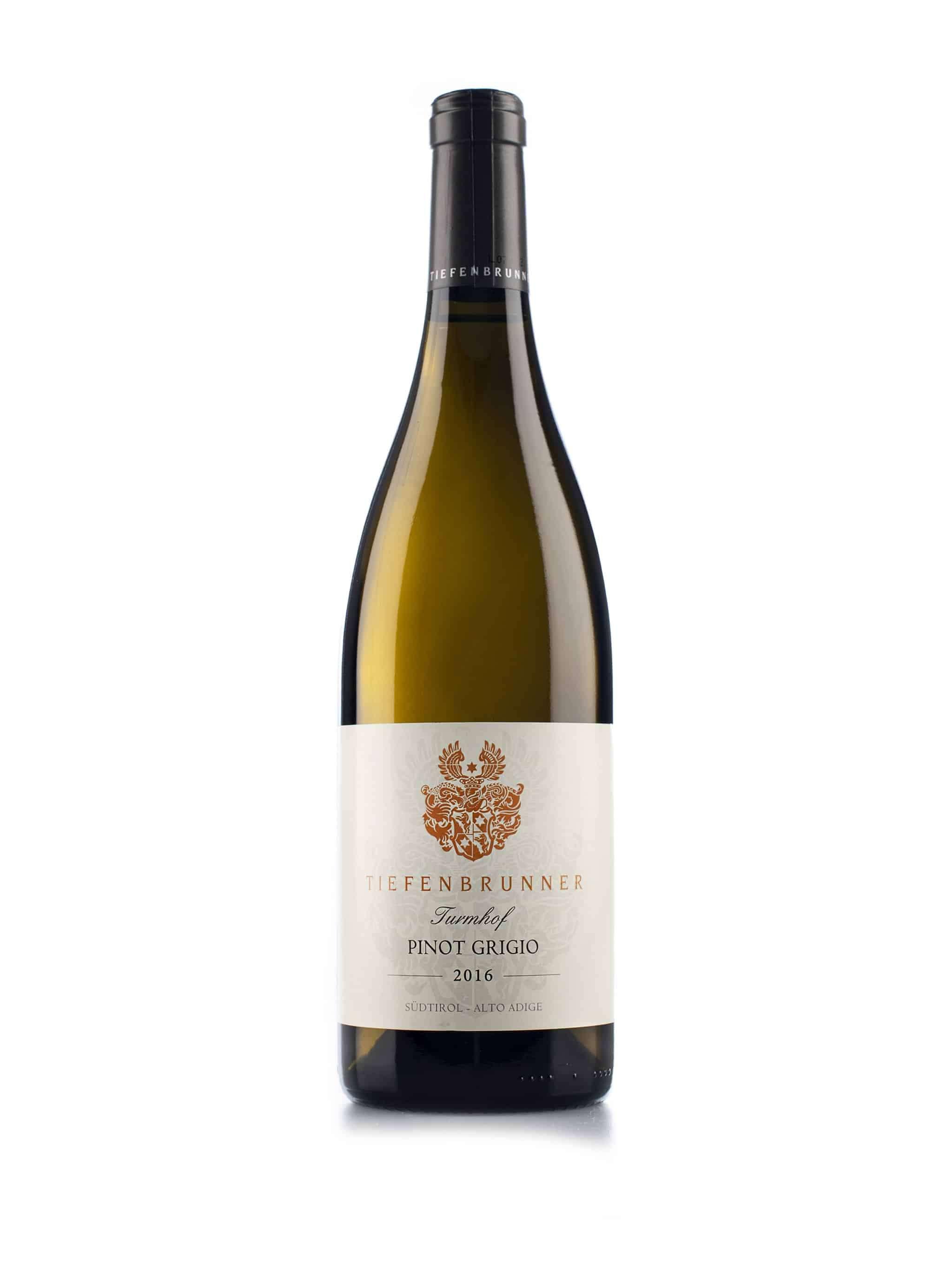 Italiaanse witte wijn van wijndomein Tiefenbrunner: Pinot Grigio 'Turmhof'