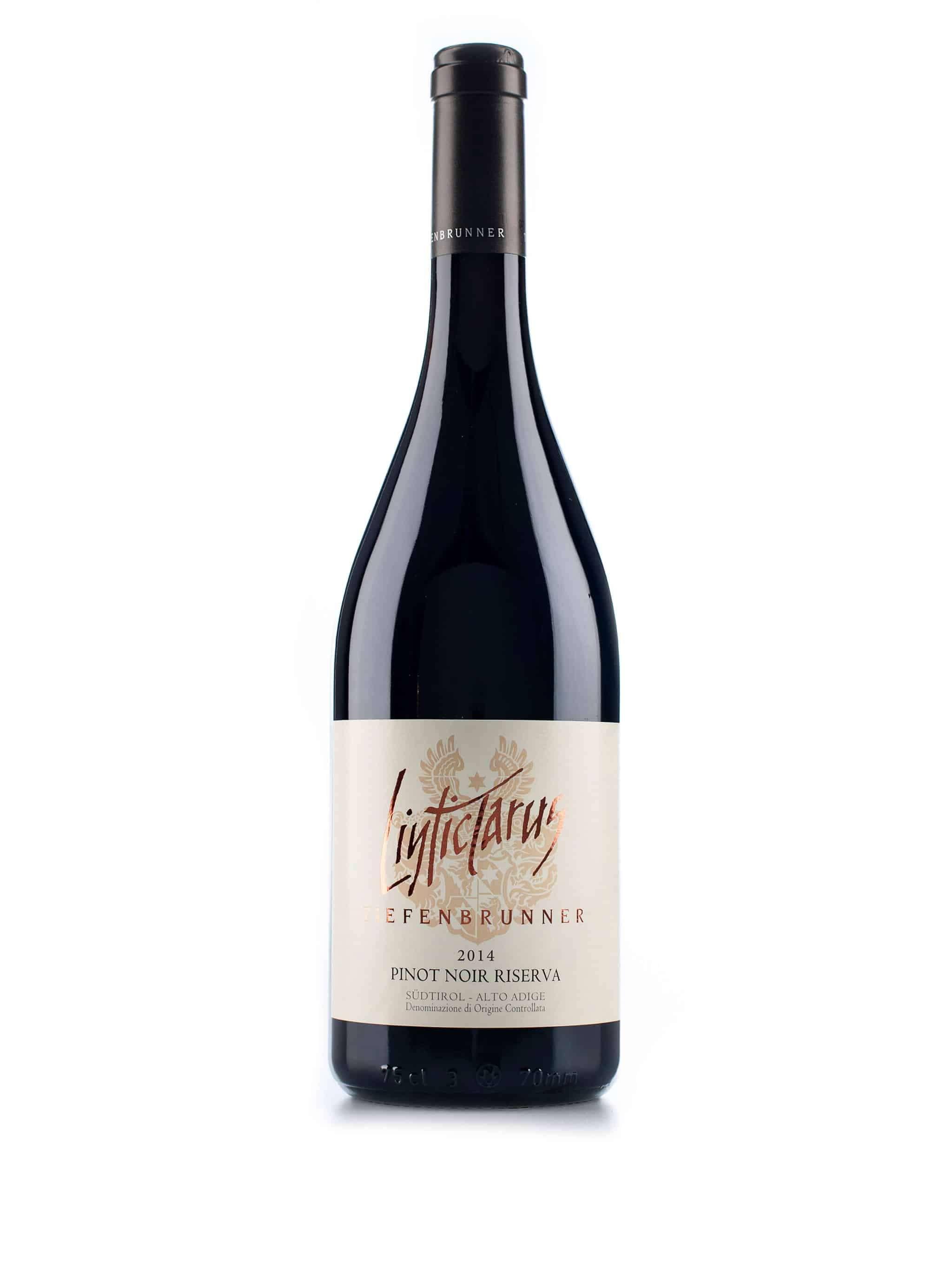 Italiaanse rode wijn van wijndomein Tiefenbrunner: Pinot Noir 'Linticlarus'