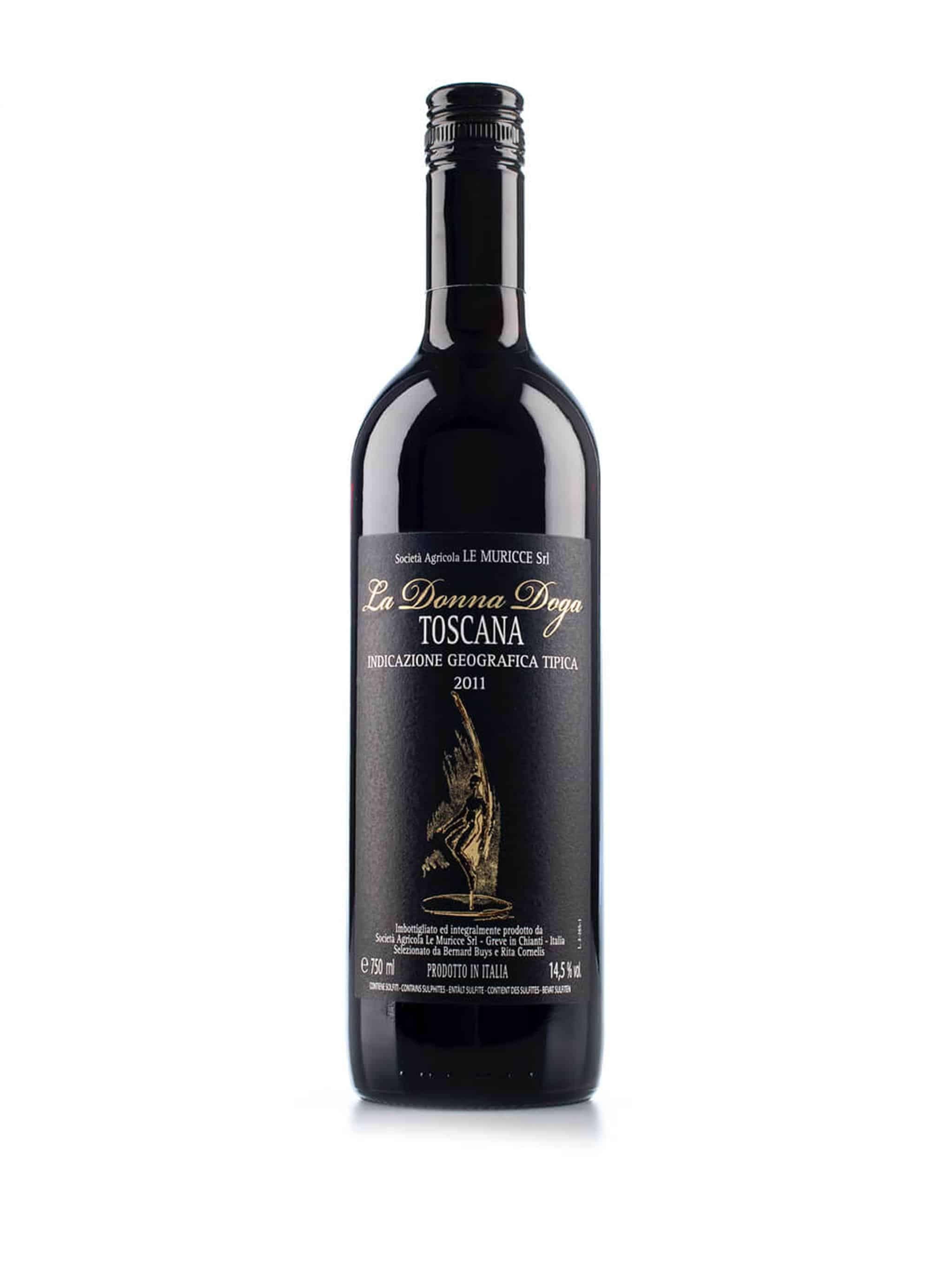 Italiaanse rode wijn van wijndomein Le Muricce: La Donna Doga