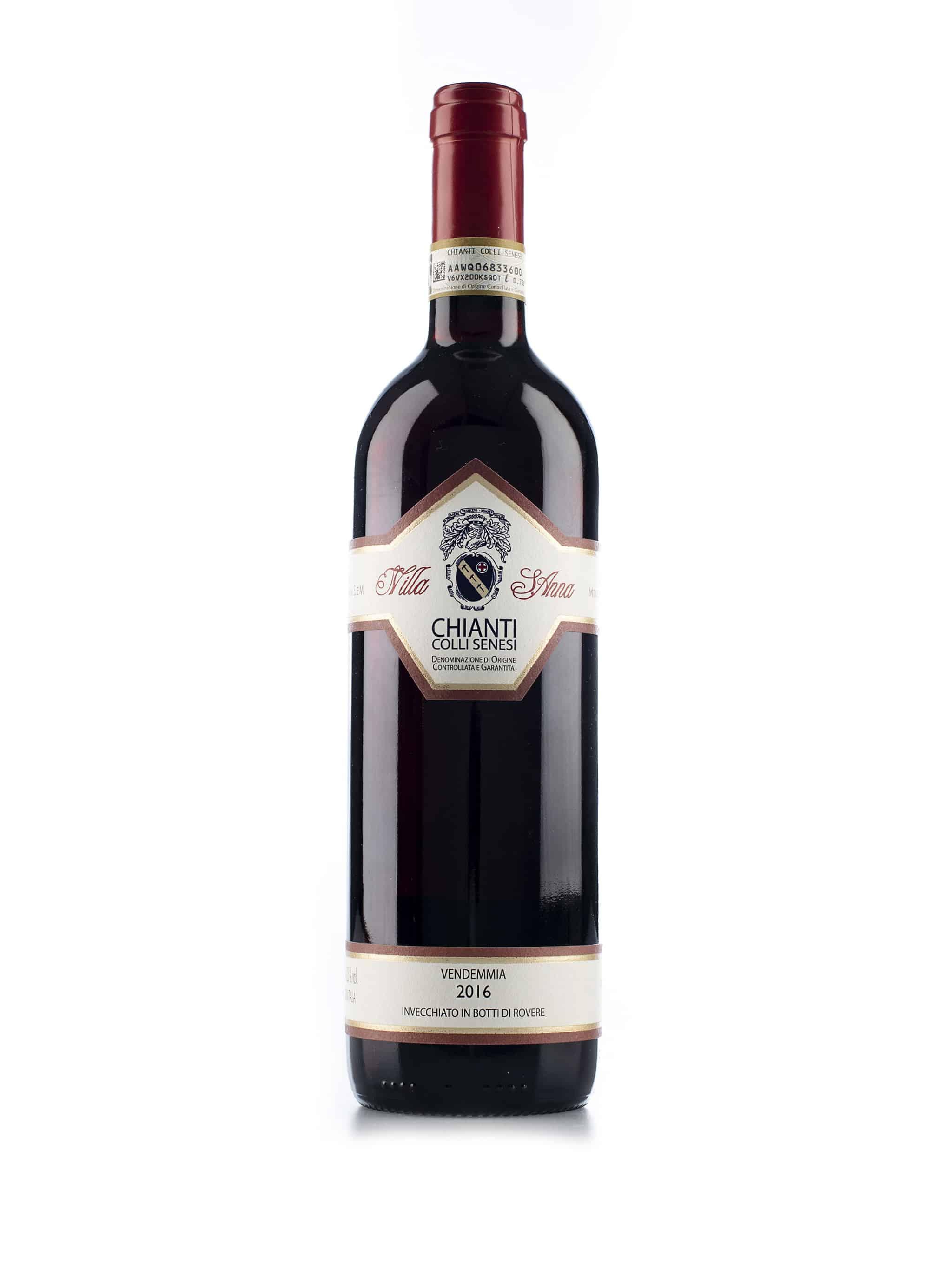 Italiaanse rode wijn van wijndomein Villa Sant'Anna: Chianti Colli Senesi