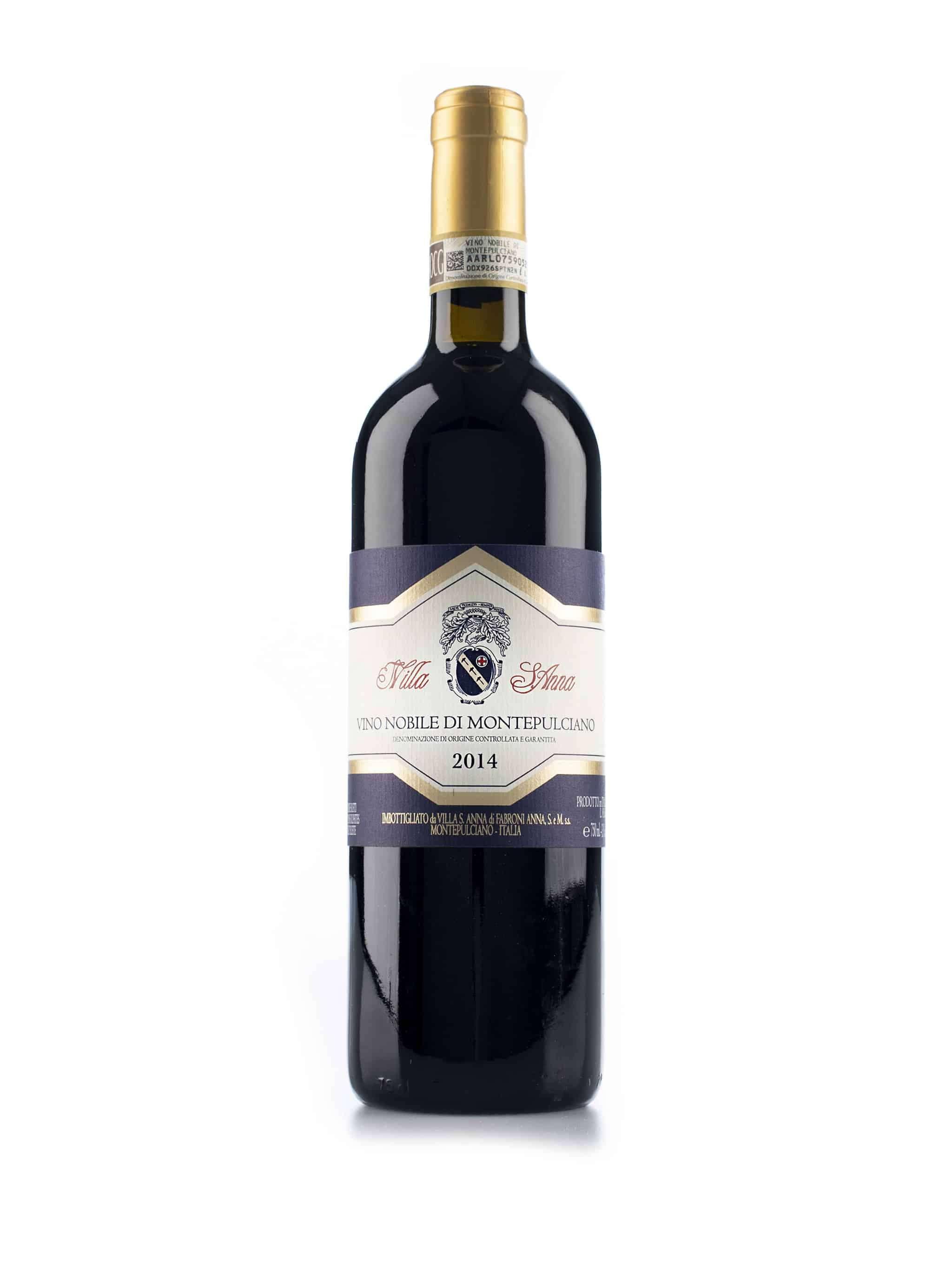 Italiaanse rode wijn van wijndomein Villa Sant'Anna: Vino Nobile di Montepulciano