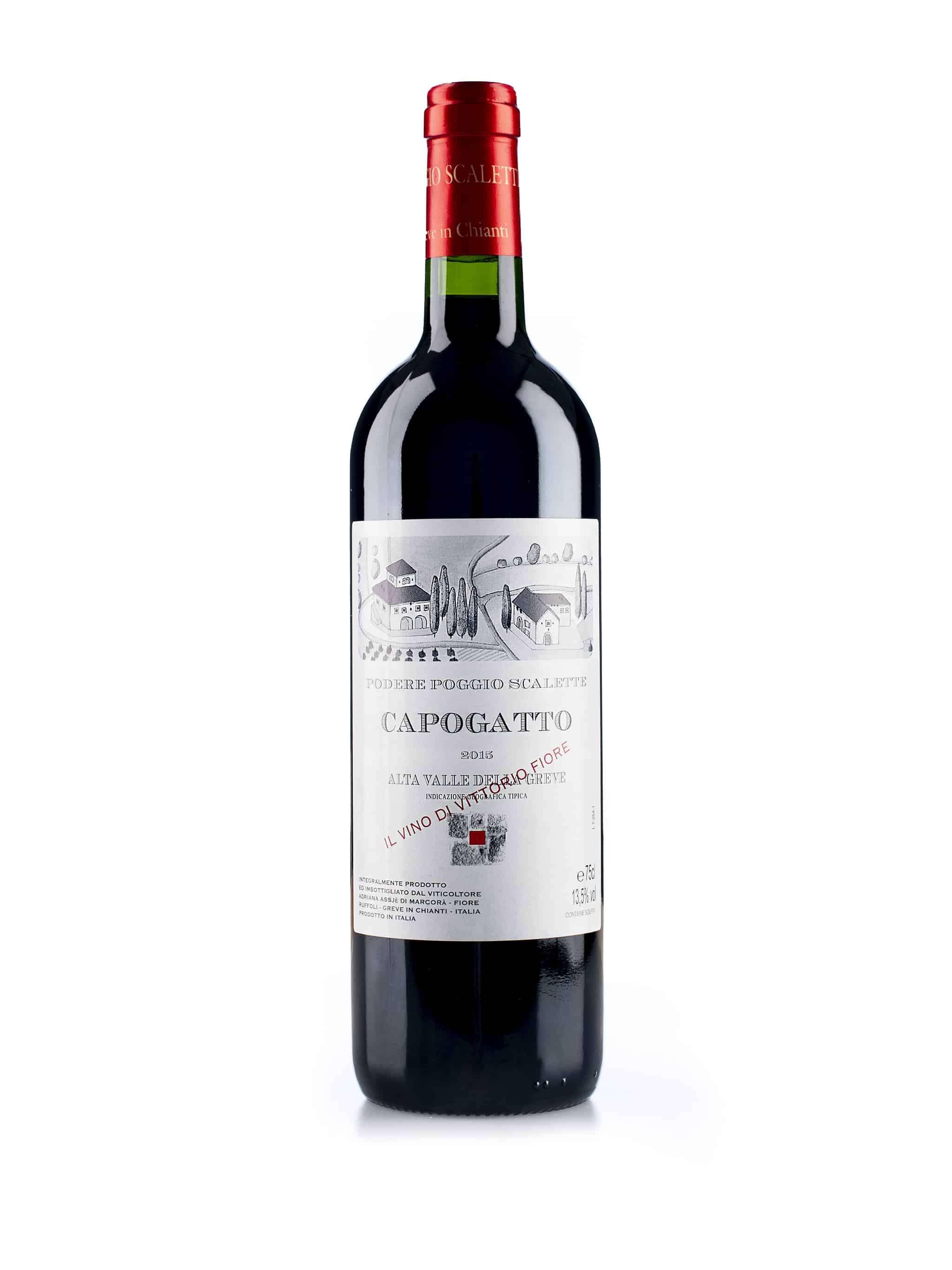 Italiaanse rode wijn van wijndomein Podere Poggio Scalette: Cappogatto