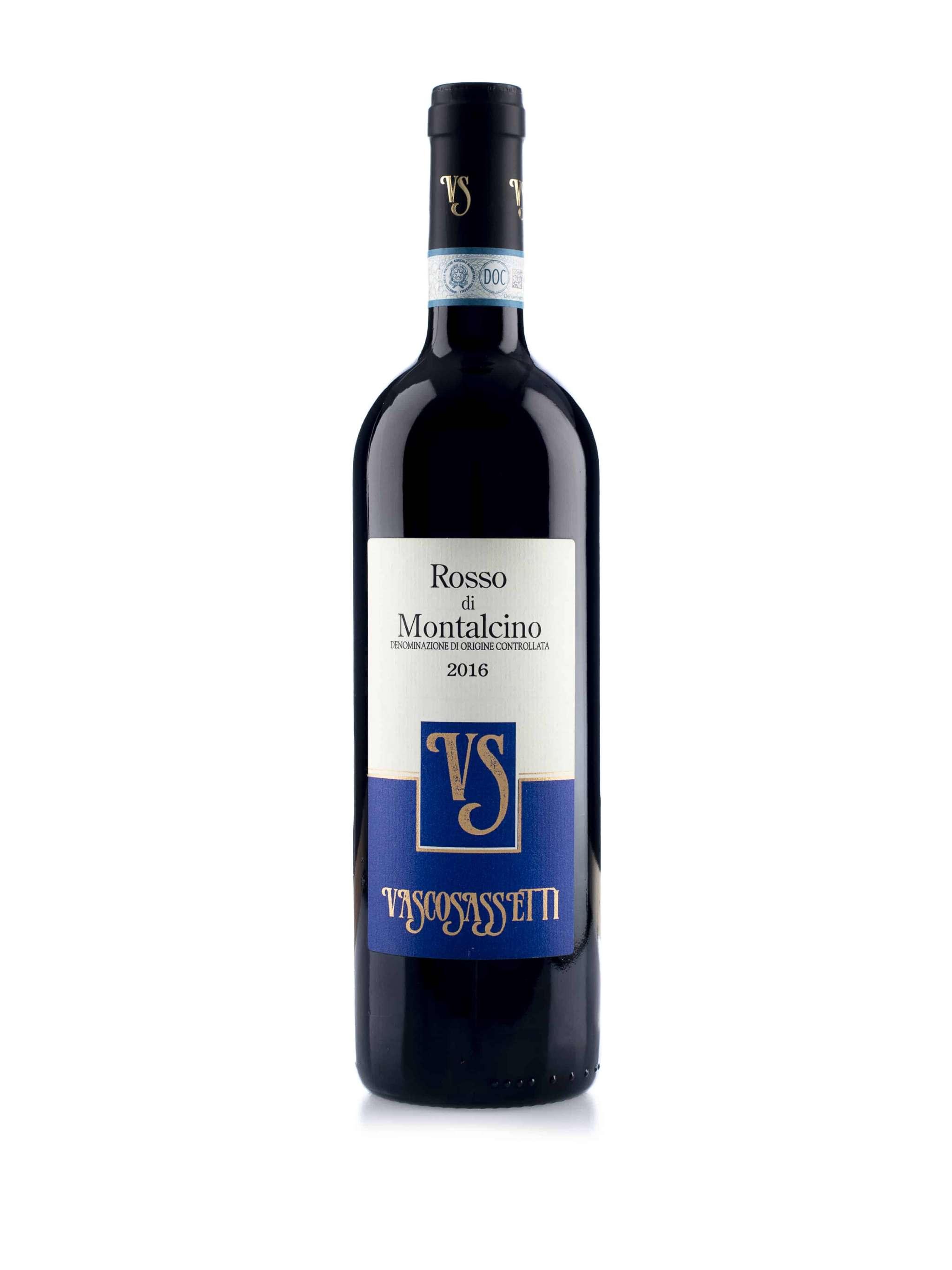Italiaanse rode wijn van wijndomein Vasco Sassetti: Rosso di Montalcino