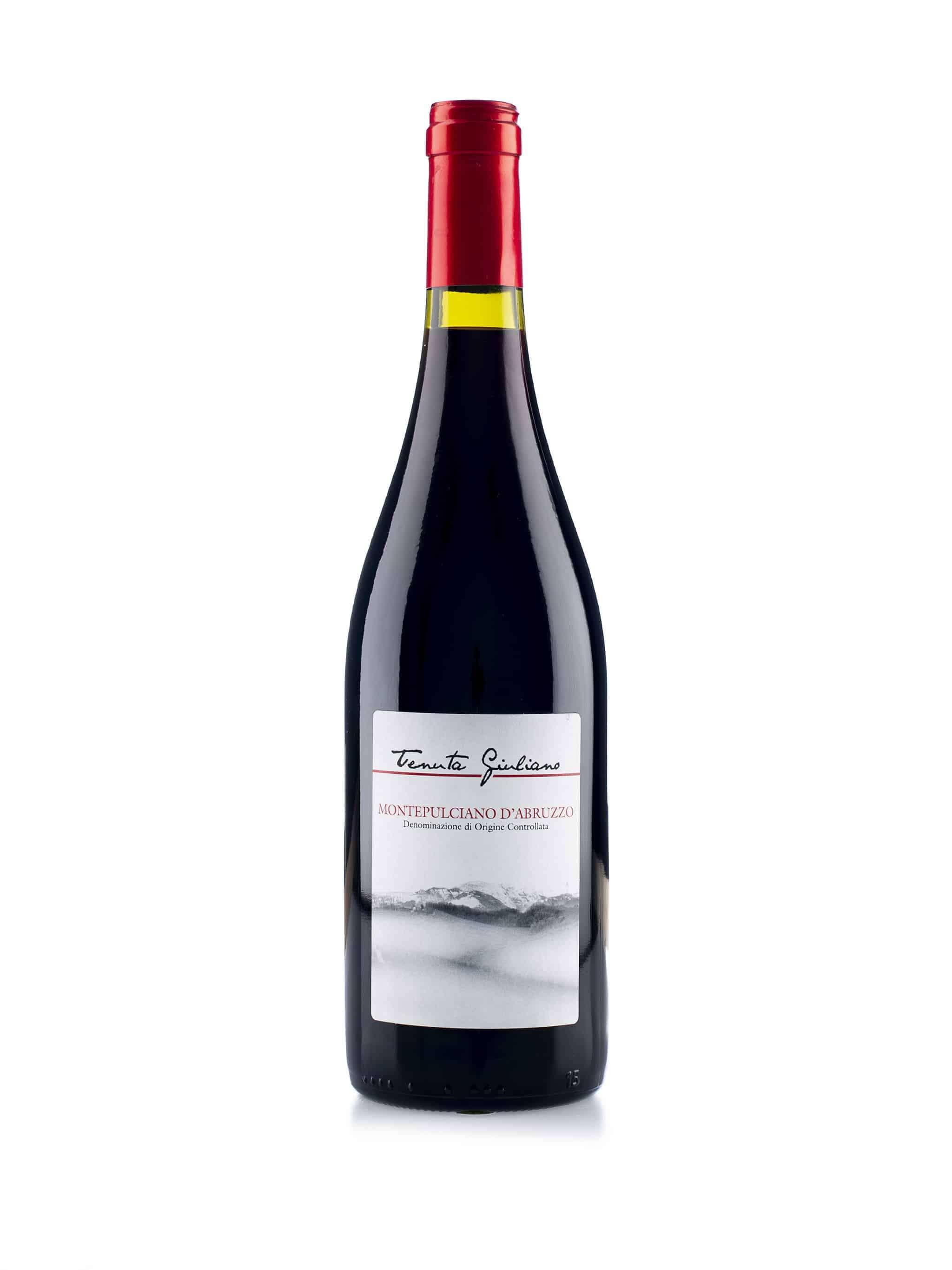 Italiaanse rode wijn van wijndomein Tenuta Giuliano: Montepulciano d'Abruzzo