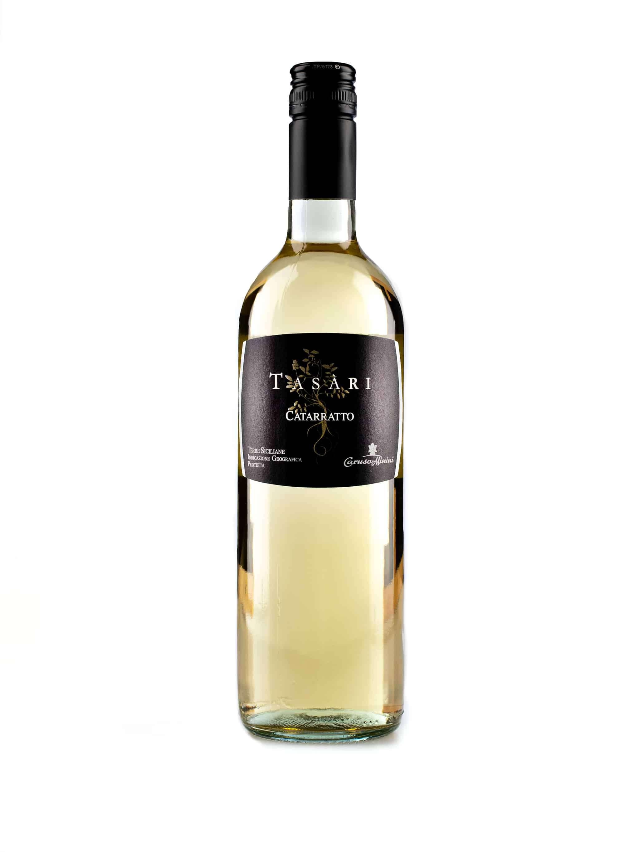 Italiaanse witte wijn van wijndomein Caruso & Minini: Catarratto 'Tasari'