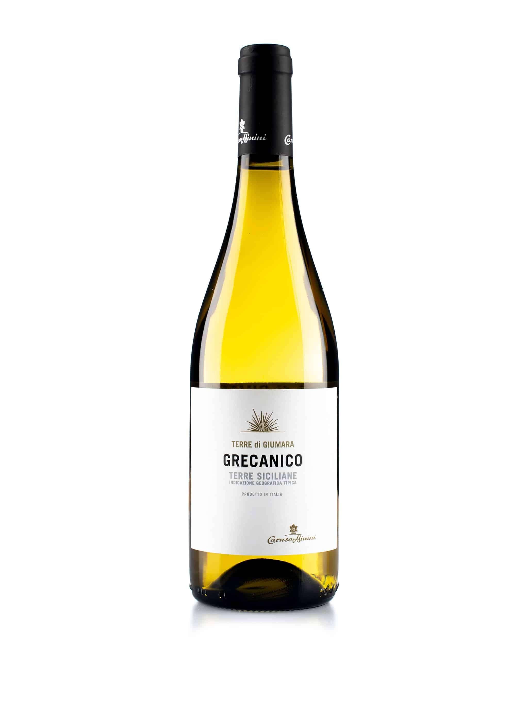 Italiaanse witte wijn van wijndomein Caruso & Minini: Grecanico