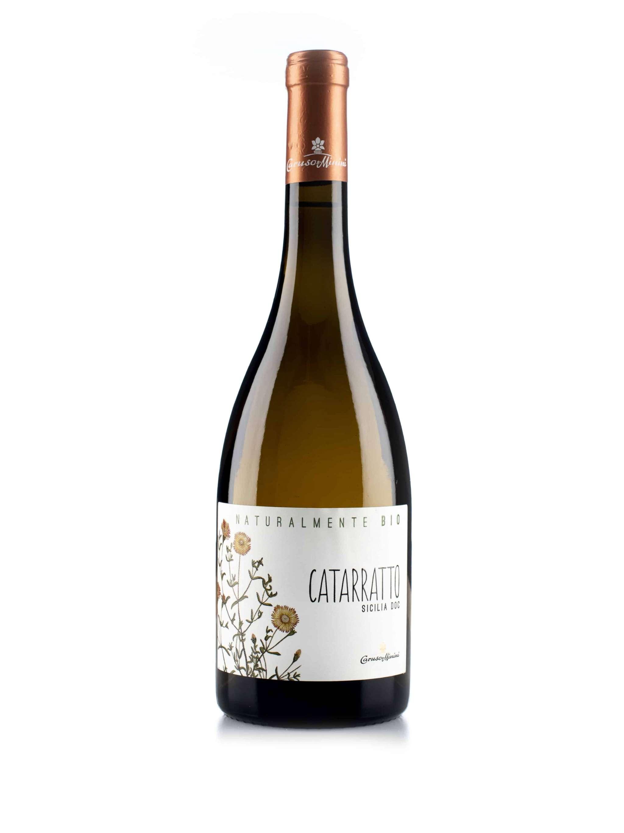 Italiaanse witte wijn van wijndomein Caruso & Minini: Catarratto 'Bio'