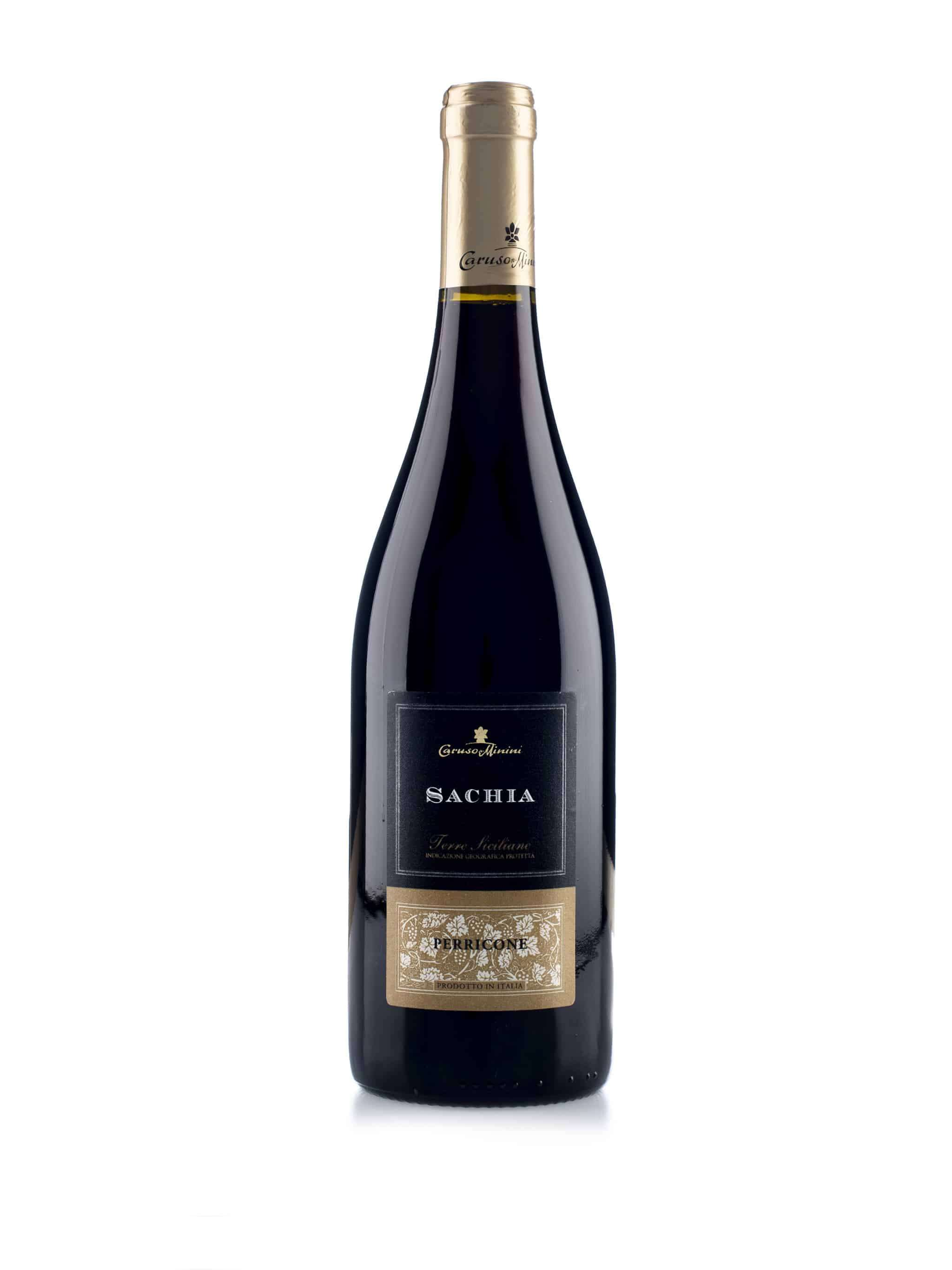 Italiaanse rode wijn van wijndomein Caruso & Minini: Perricone