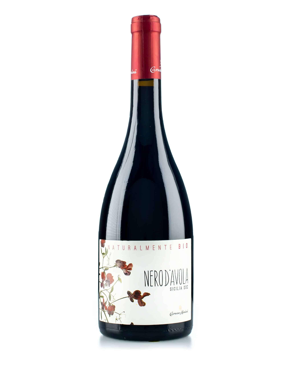 Italiaanse rode wijn van wijndomein Caruso & Minini: Nero d'Avola 'Bio'