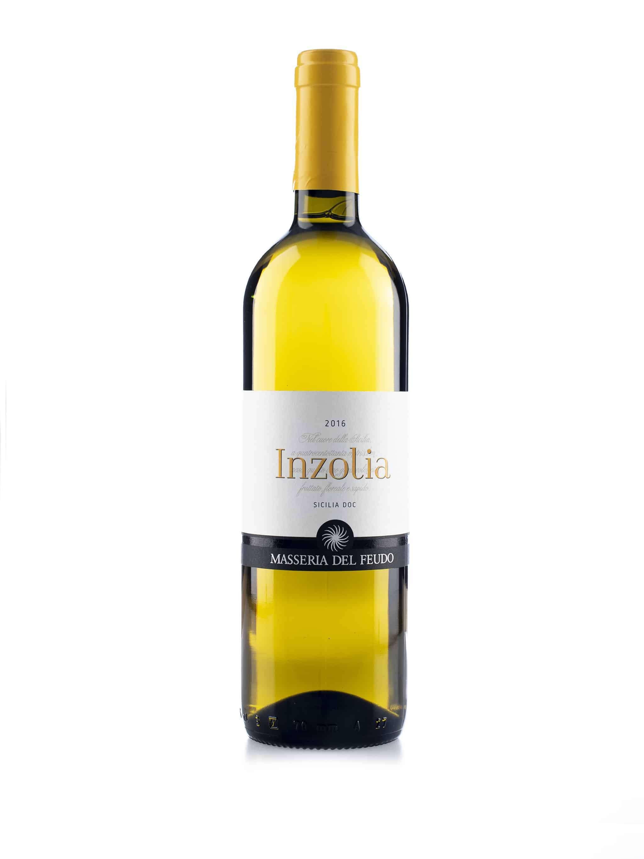 Italiaanse witte wijn van wijndomein Masseria del Fuedo: Inzolia