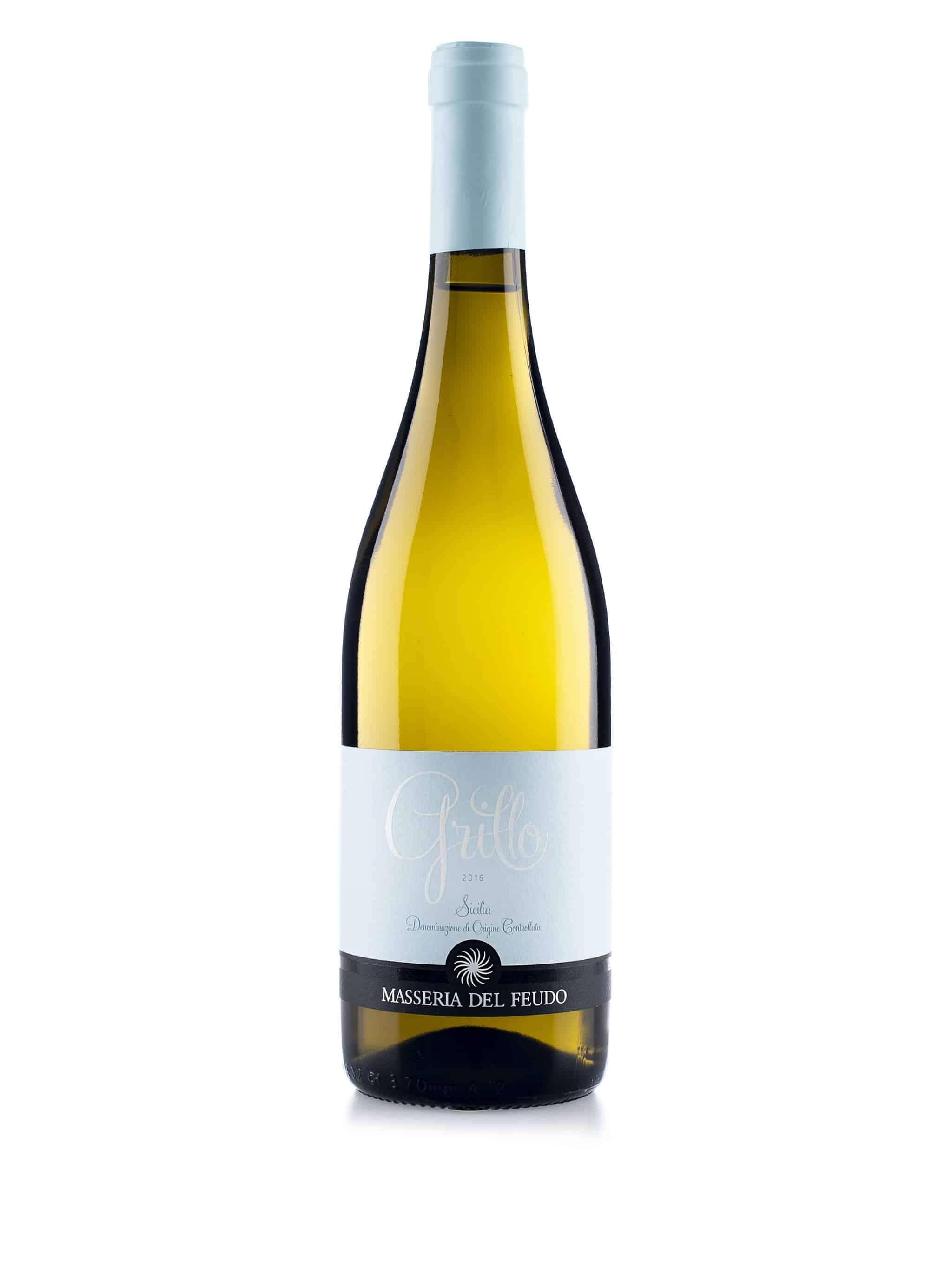 Italiaanse witte wijn van wijndomein Masseria del Fuedo: Grillo