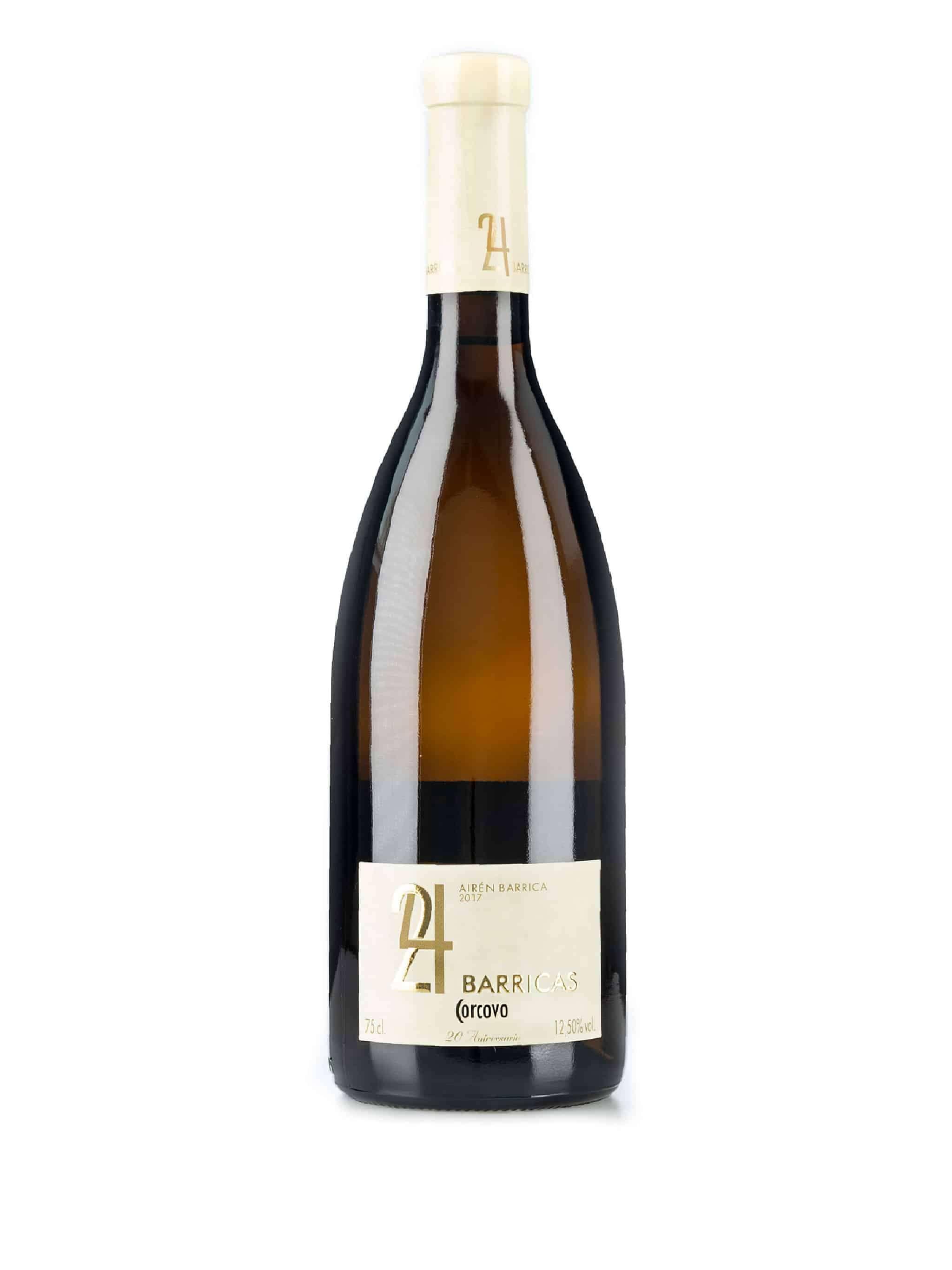 Spaanse witte wijn van wijndomein Corcovo: Aïren '24 barrique'