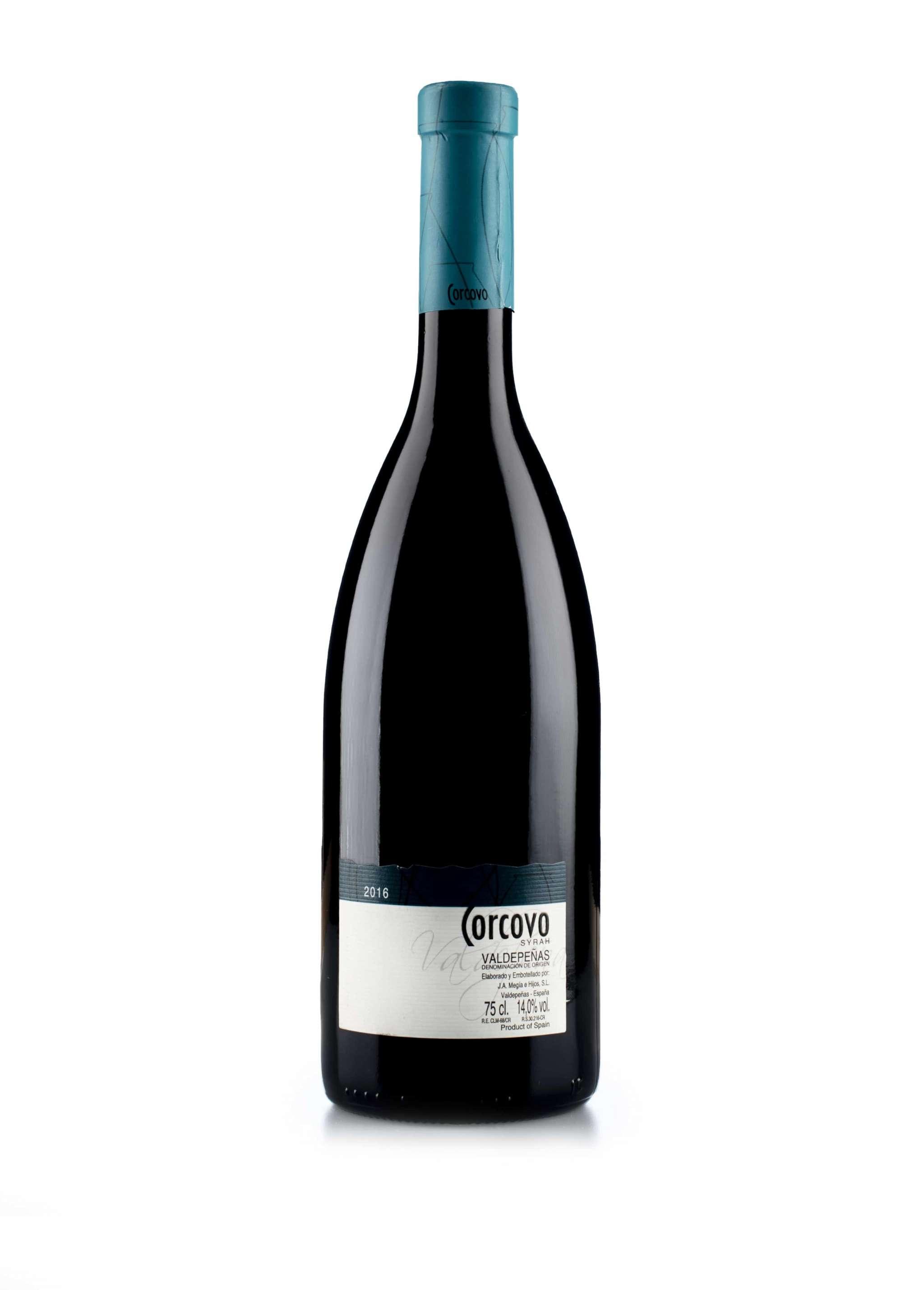 Spaanse rode wijn van wijndomein Corcovo: Syrah