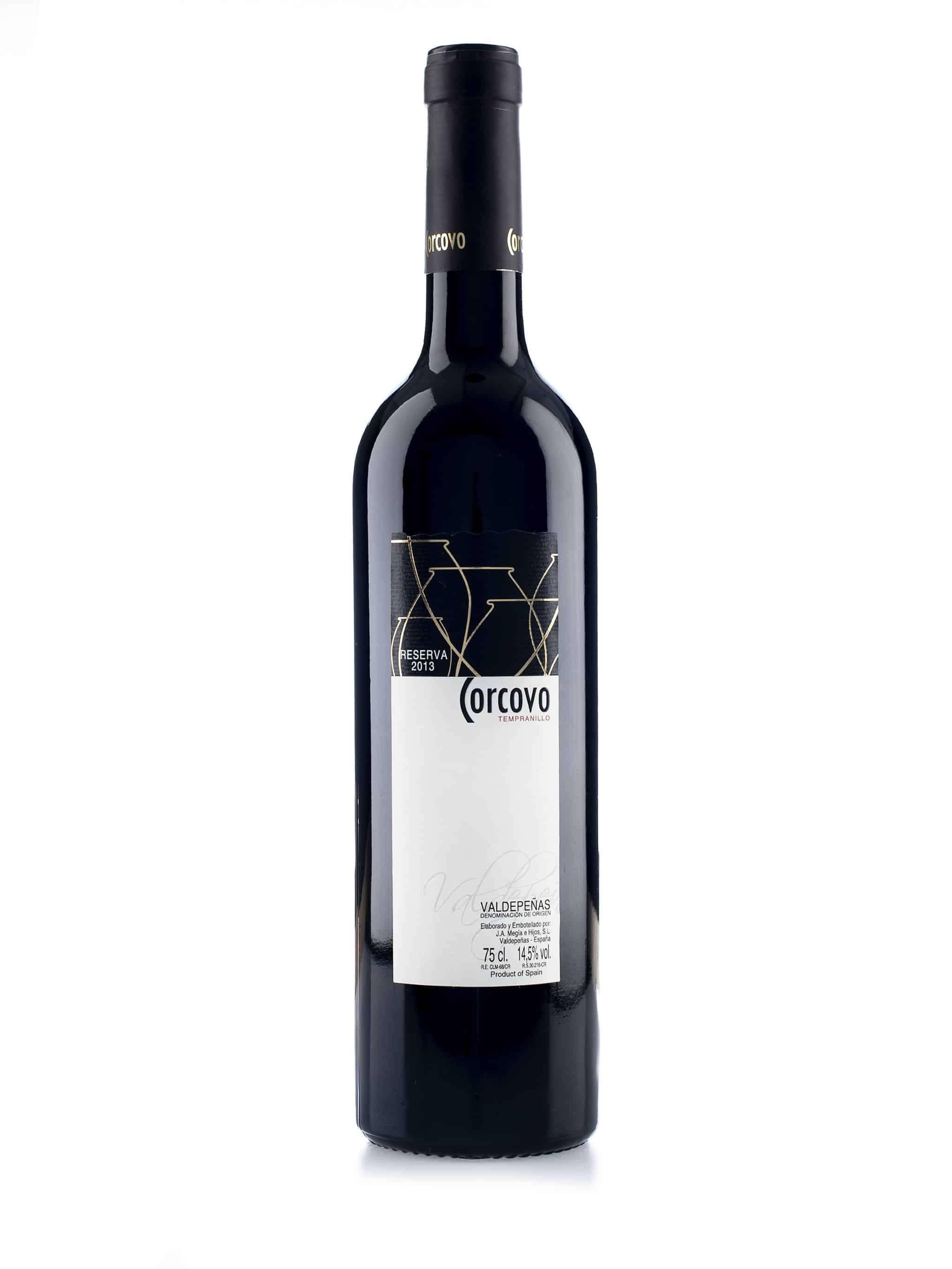 Spaanse rode wijn van wijndomein Corcovo: Tempranillo 'Reserva'