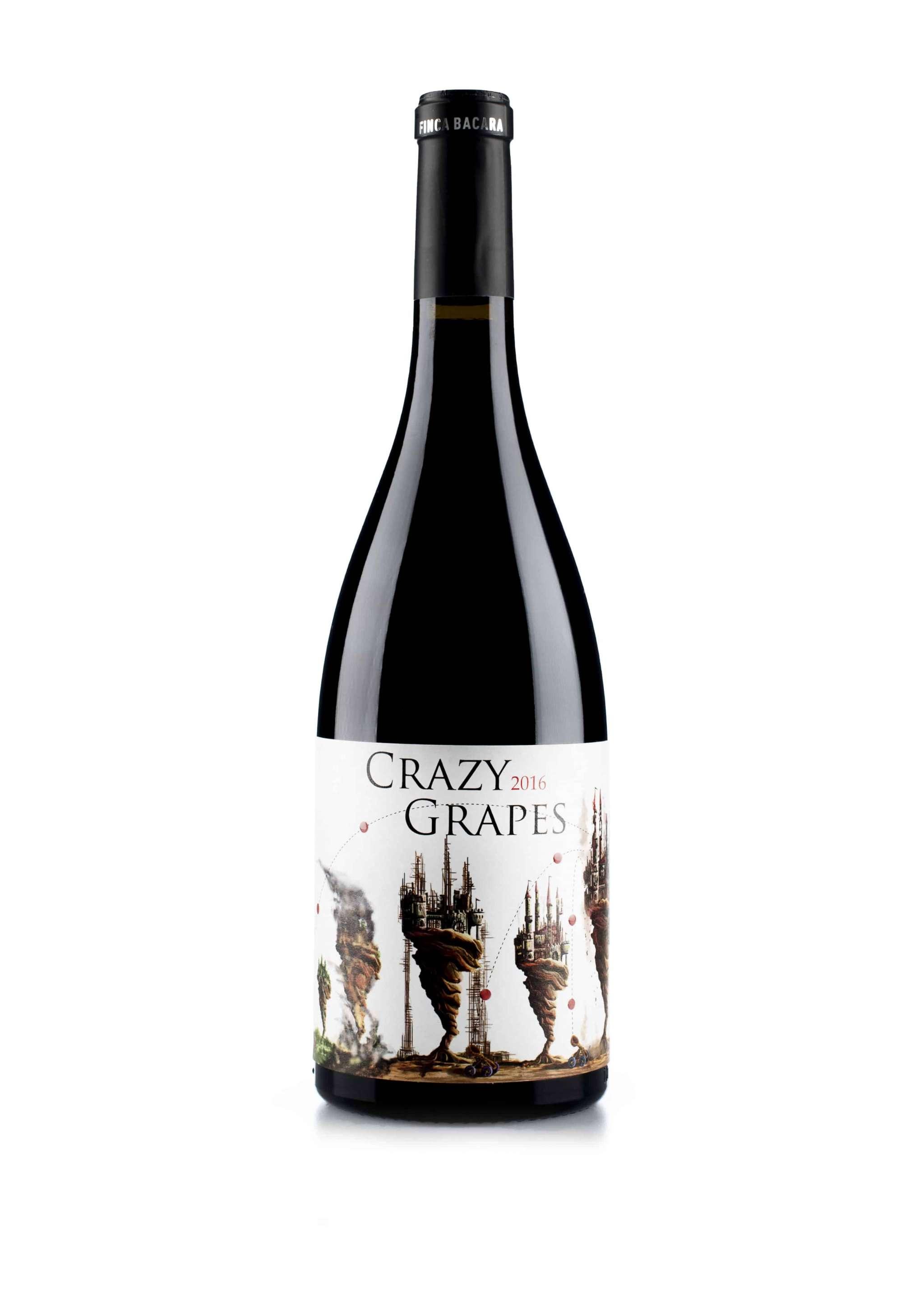 Spaanse rode wijn van wijndomein Finca Bacara: Monastrell 'Crazy Grapes'