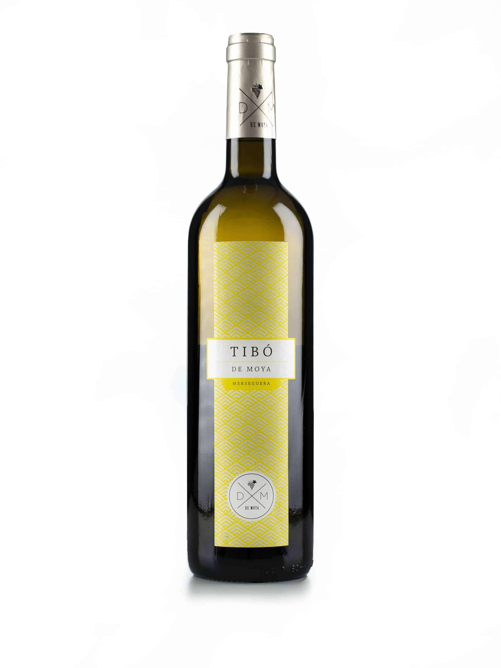 Spaanse witte wijn van wijndomein Bodegas de Moya: Tibo