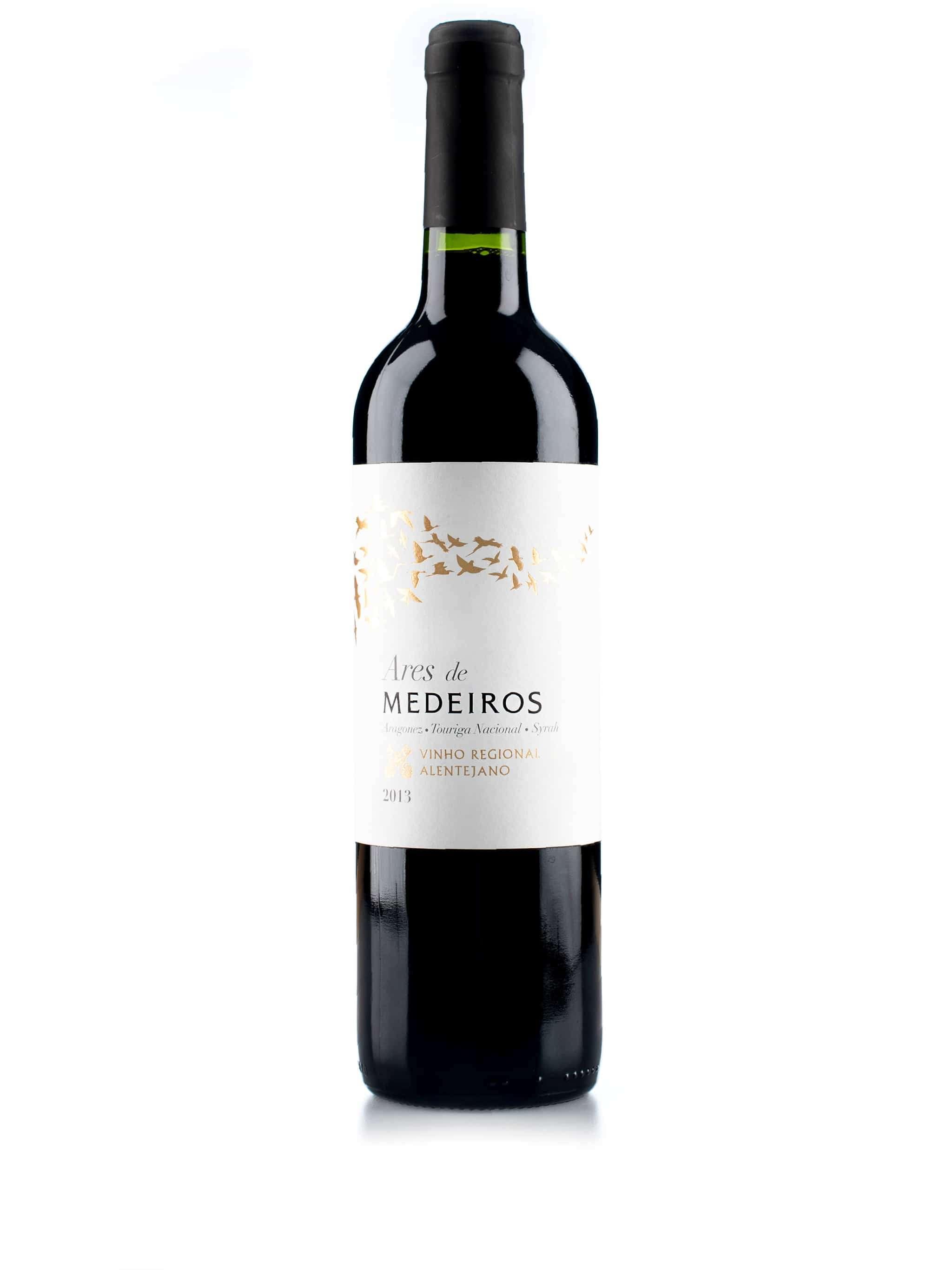 Portugese rode wijn van wijndomein Herdade Monte Medeiros: Ares de Medeiros