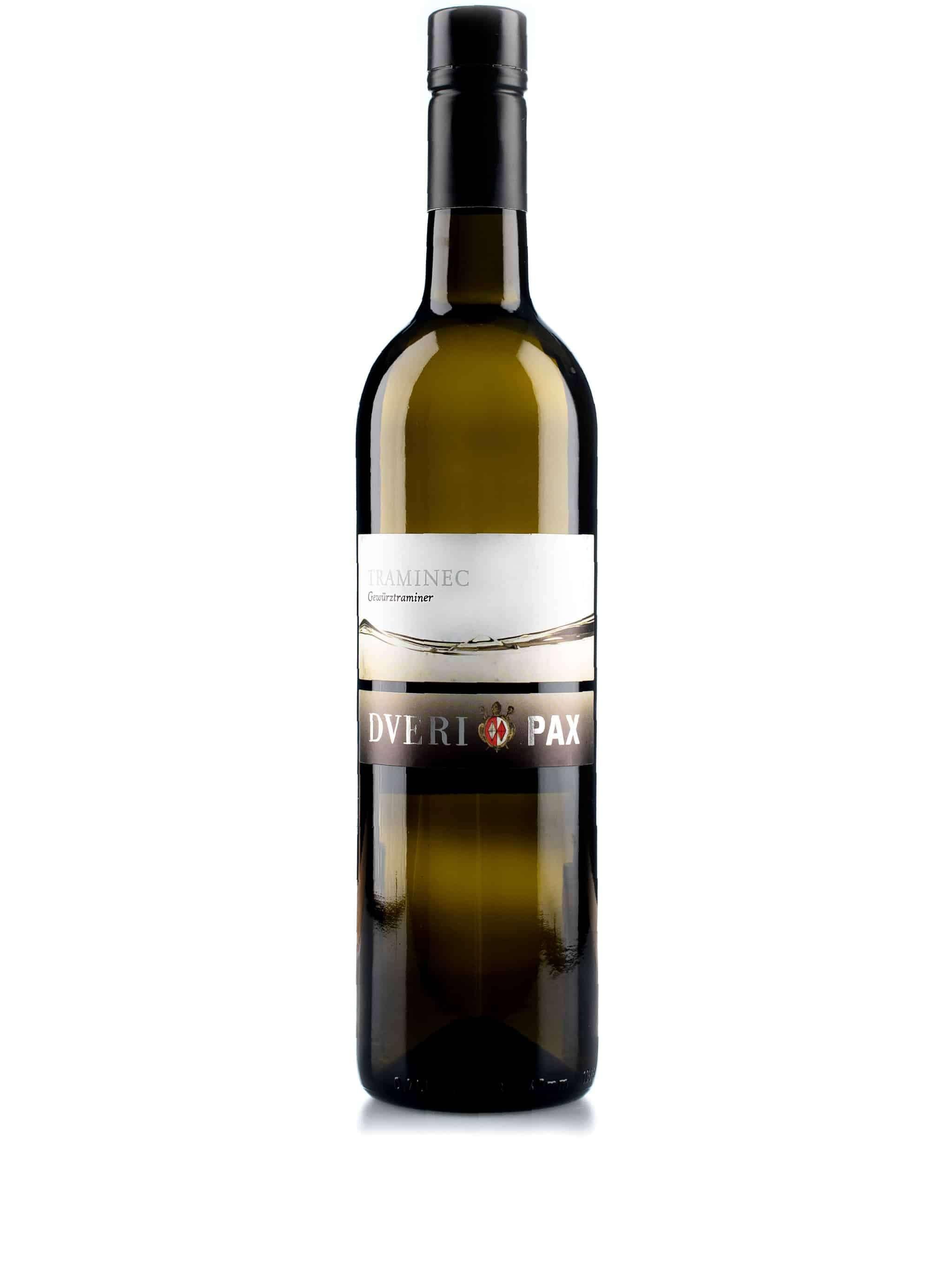 Sloveense witte wijn van wijndomein Dveri-Pax: Traminer