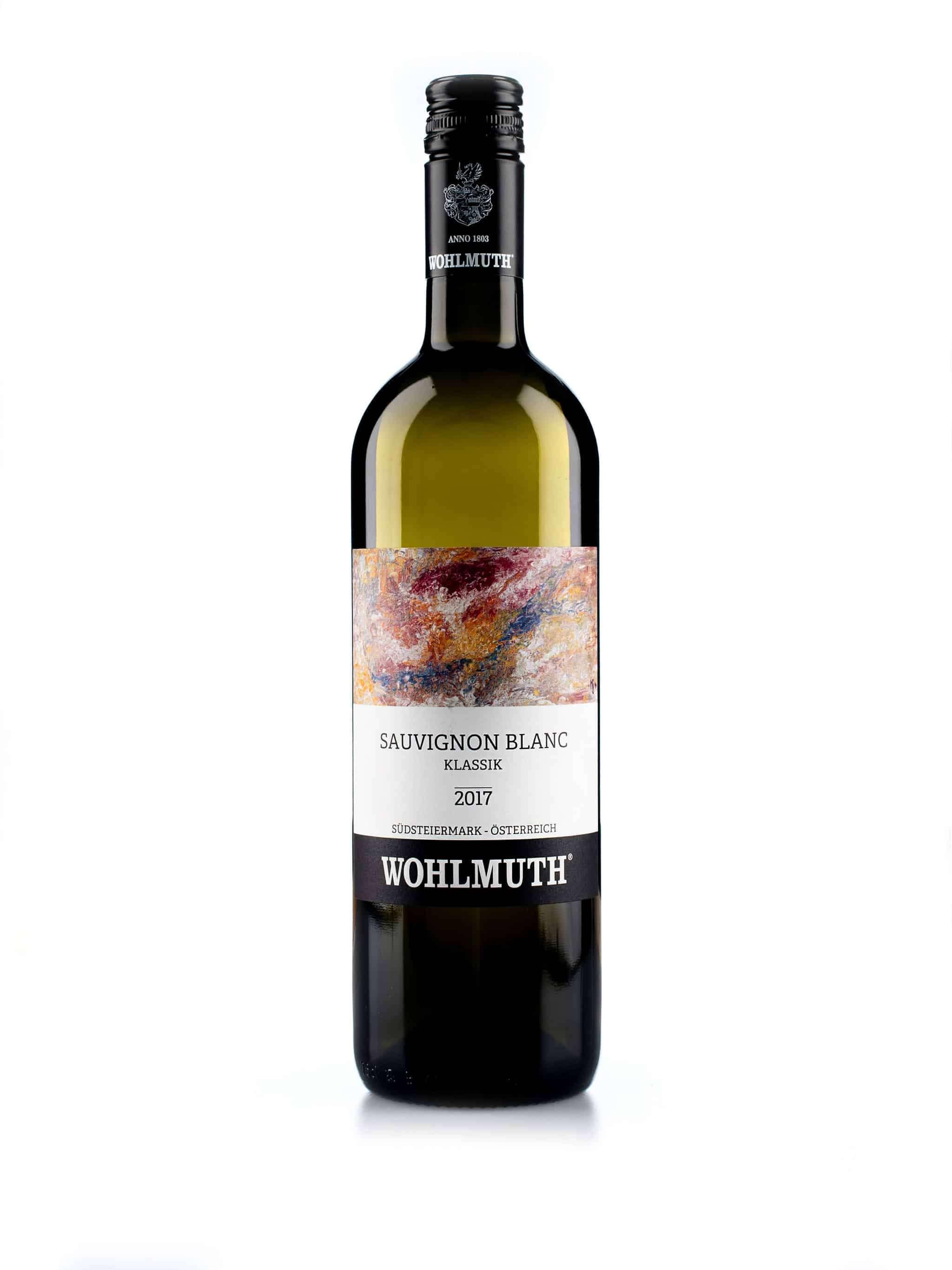 Oostenrijkse witte wijn van wijndomein Wohlmuth: Sauvignon Blanc 'Klassik'