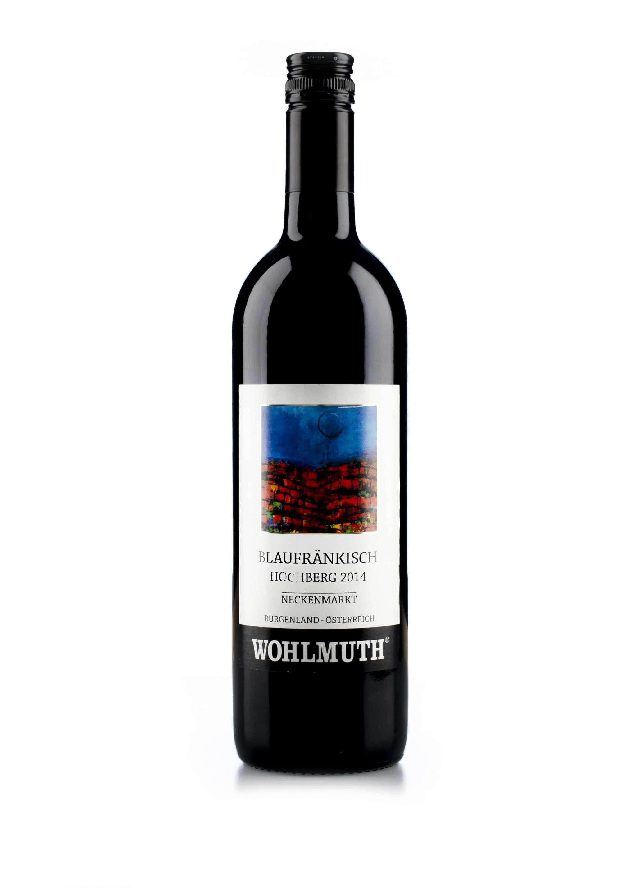 Oostenrijkse rode wijn van wijndomein Wohlmuth: Blaufrankisch 'Hochberg'