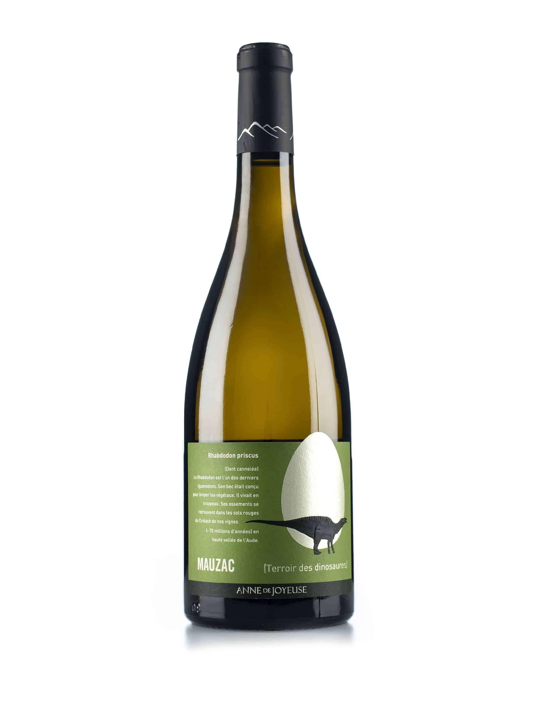 Franse witte wijn van wijndomein Anne de Joyeuse: Mauzac 'Rhabdodon Priscus'