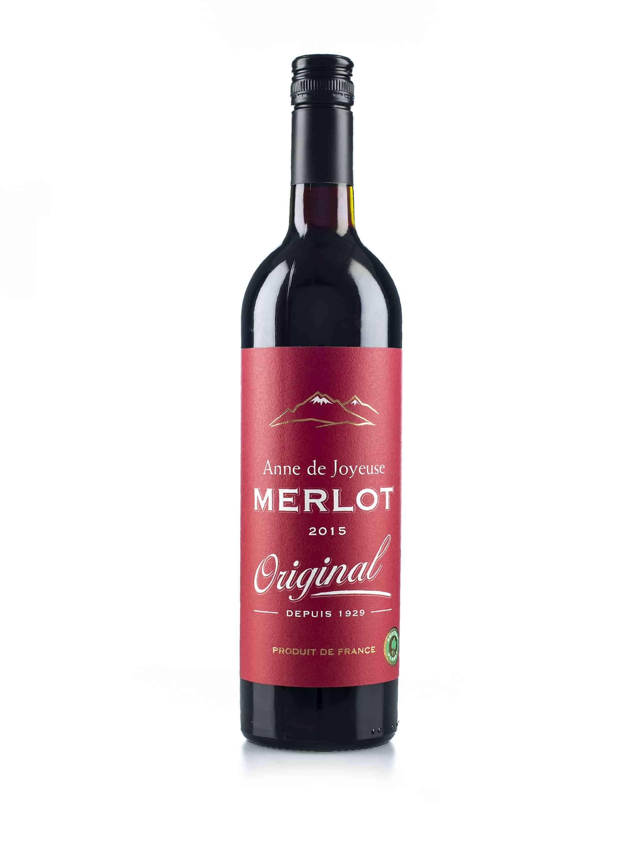 Franse rode wijn van wijndomein Anne de Joyeuse: Merlot 'Original'