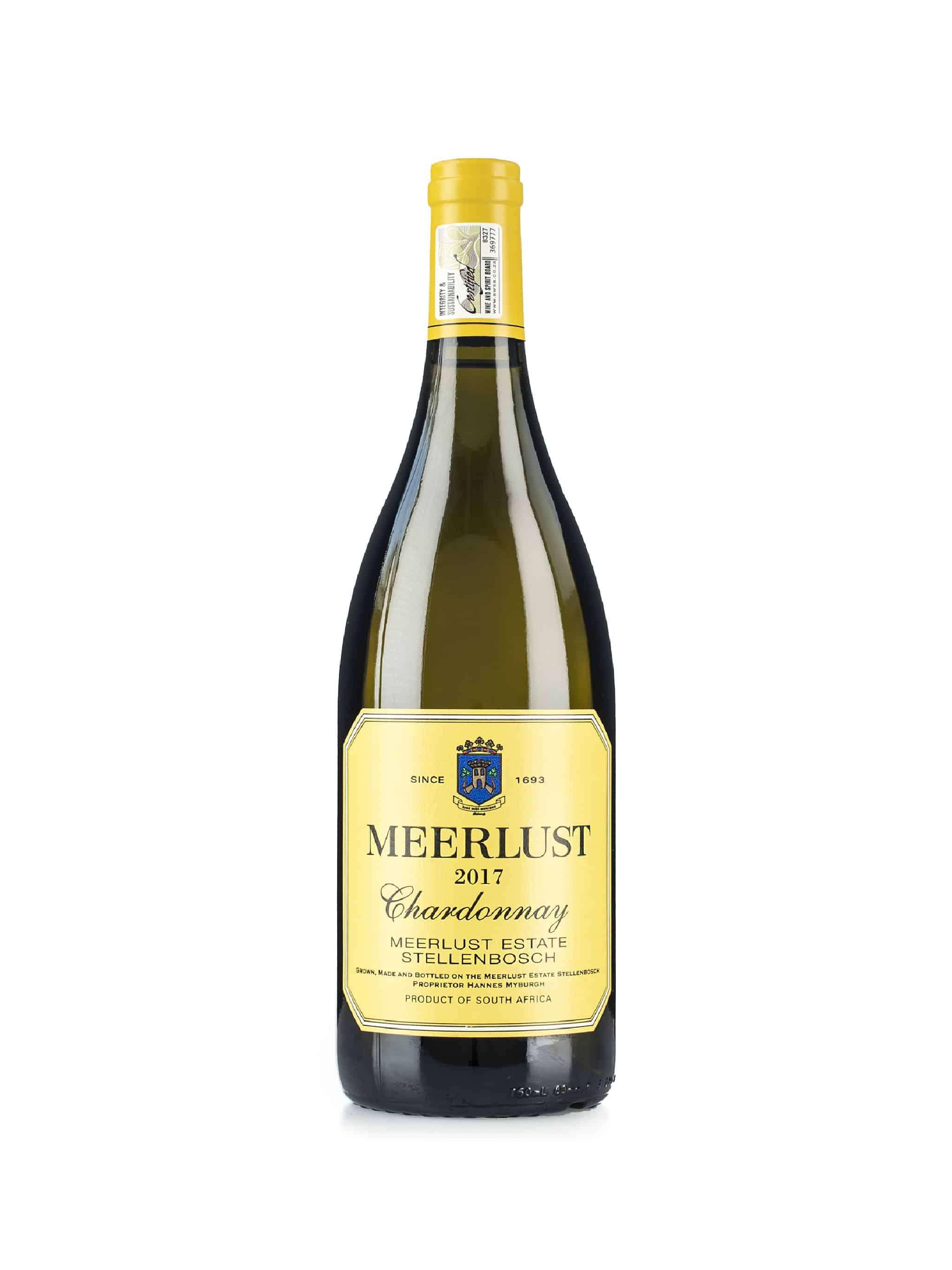 Zuid-Afrikaanse witte wijn van wijndomein Meerlust: Chardonnay