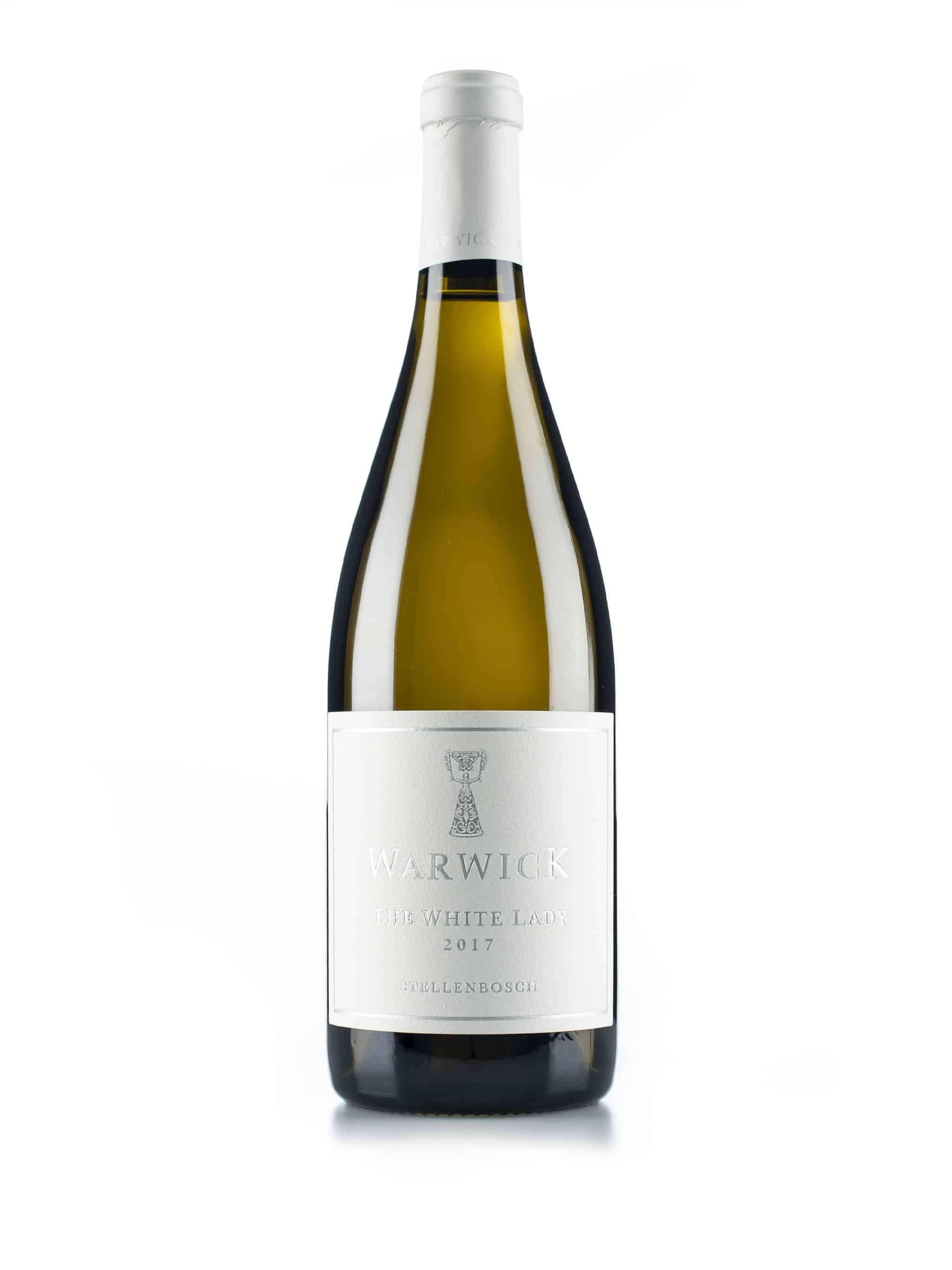 "Zuid-Afrikaanse witte wijn van wijndomein Warwick: Chardonnay ""The White Lady"""