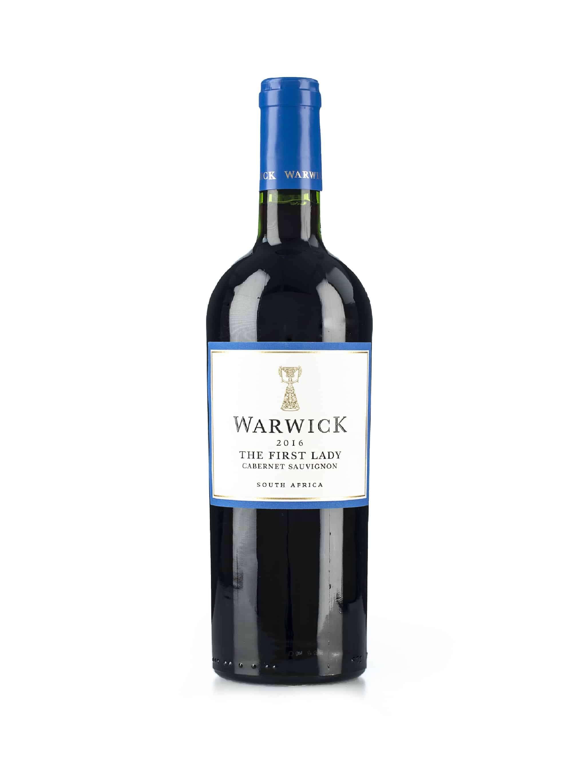 Zuid-Afrikaanse rode wijn van wijndomein Warwick: Cabernet Sauvignon First Lady