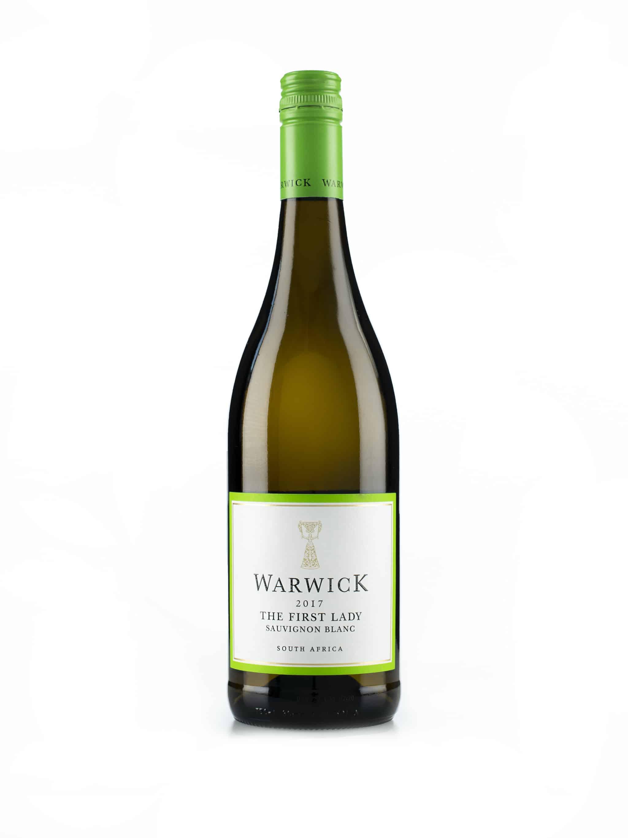 """Zuid-Afrikaanse witte wijn van wijndomein Warwick: Sauvignon Blanc """"The First Lady"""""""