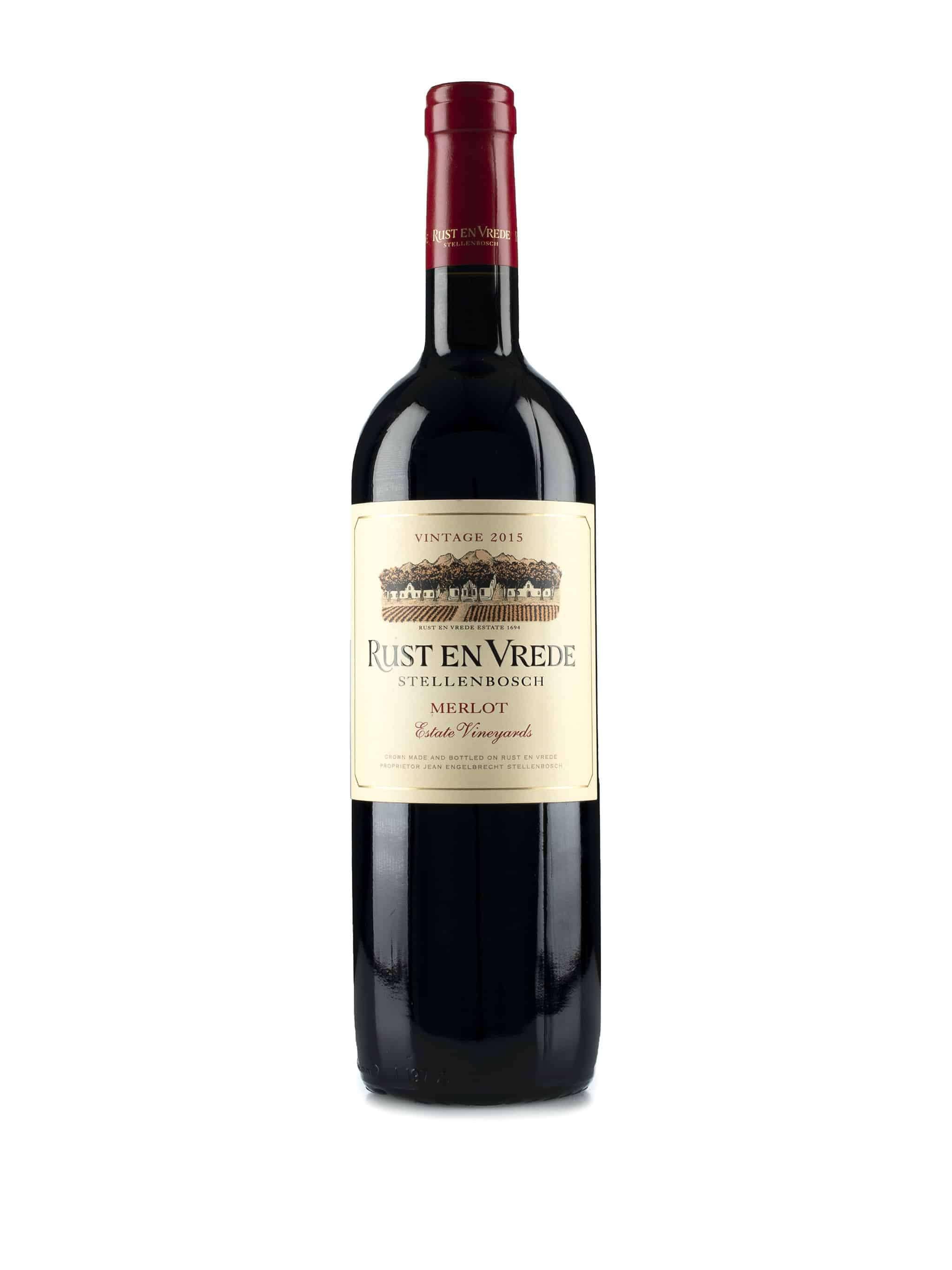 Zuid-Afrikaanse rode wijn van wijndomein Rust en Vrede: Merlot