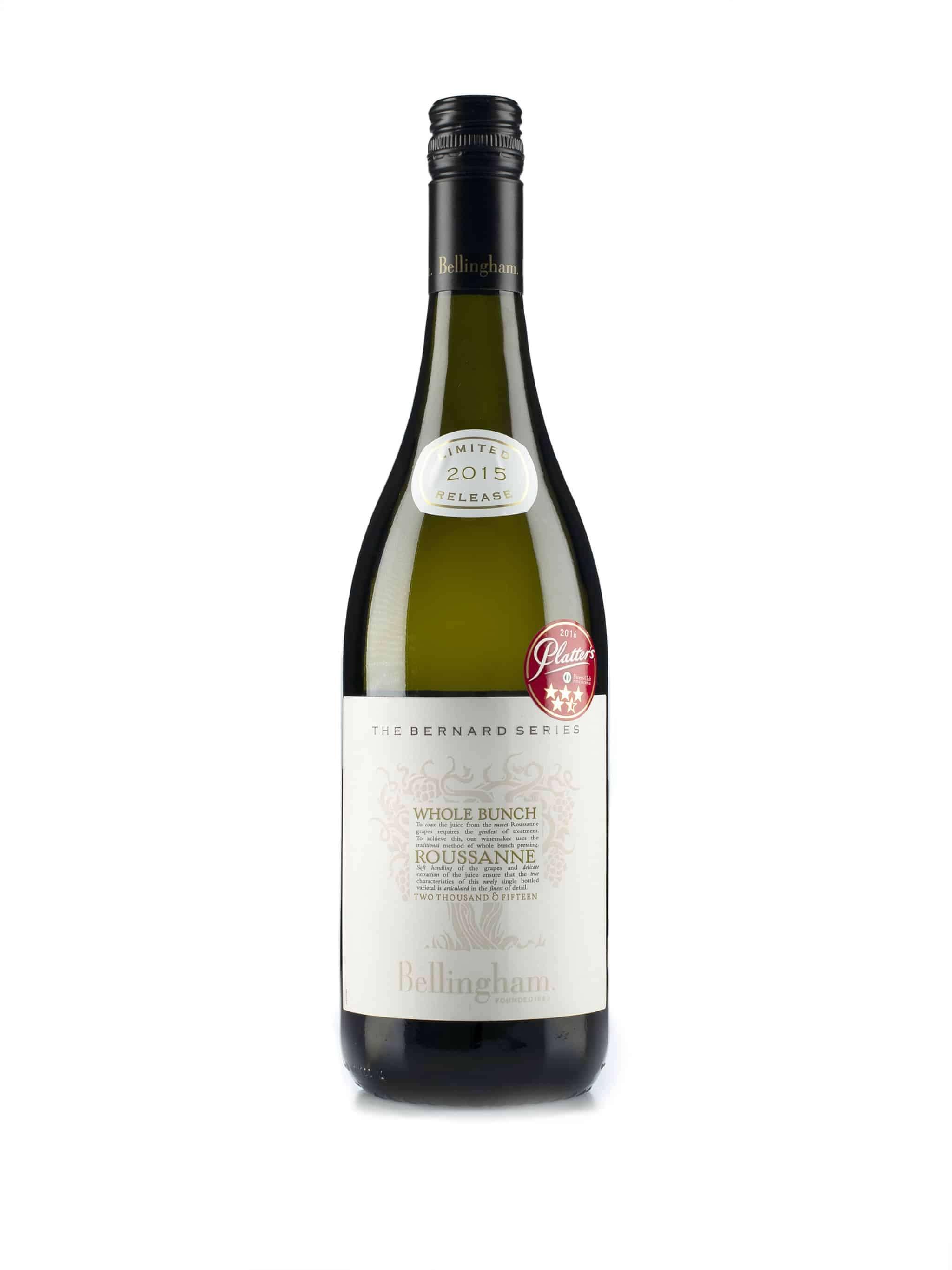 Zuid-Afrikaanse witte wijn van wijndomein Bellingham: Rousanne 'Whole Bunch'
