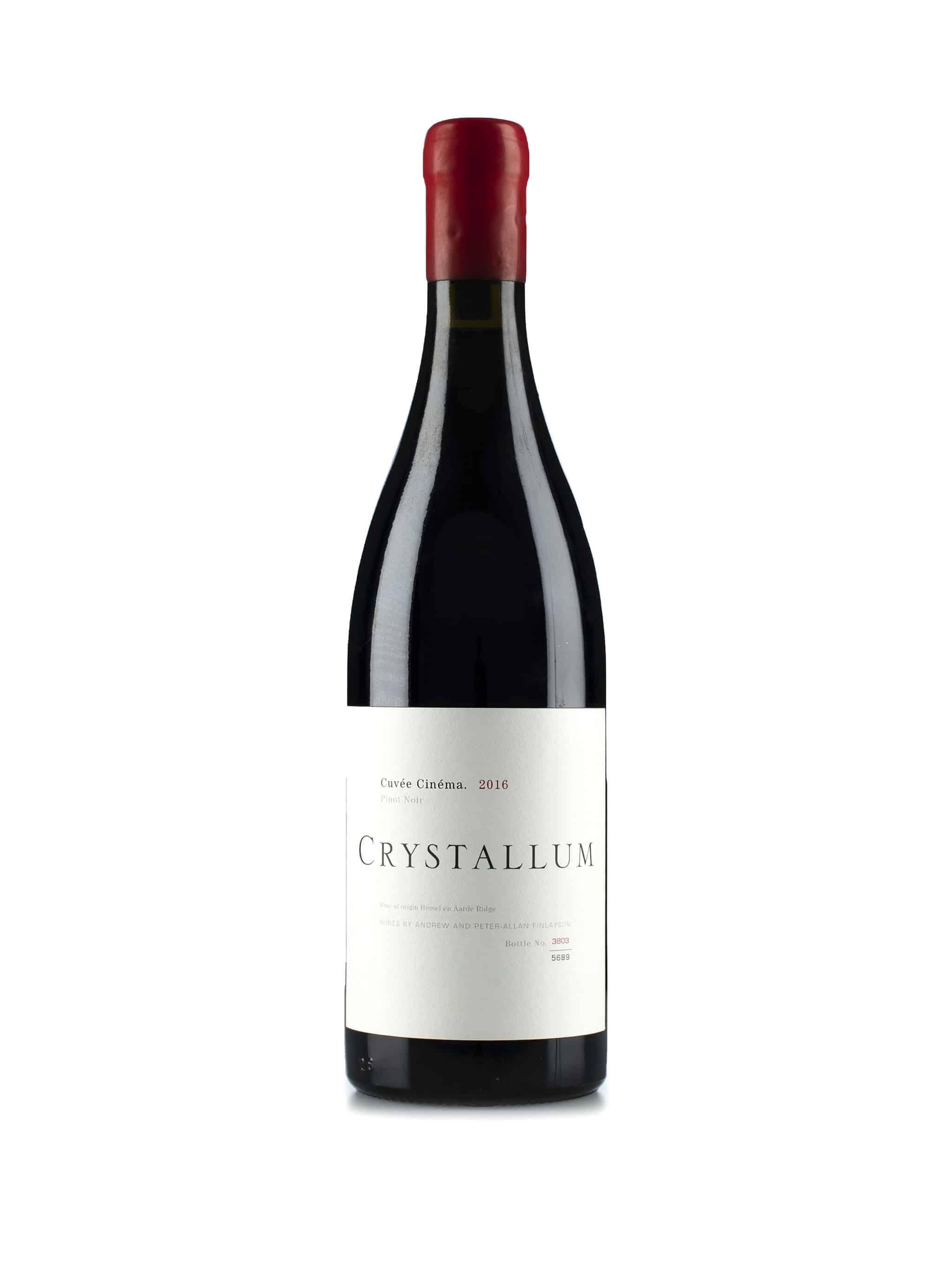 Zuid-Afrikaanse rode wijn van wijndomein Crystallum: Pinot Noir 'Cinema'