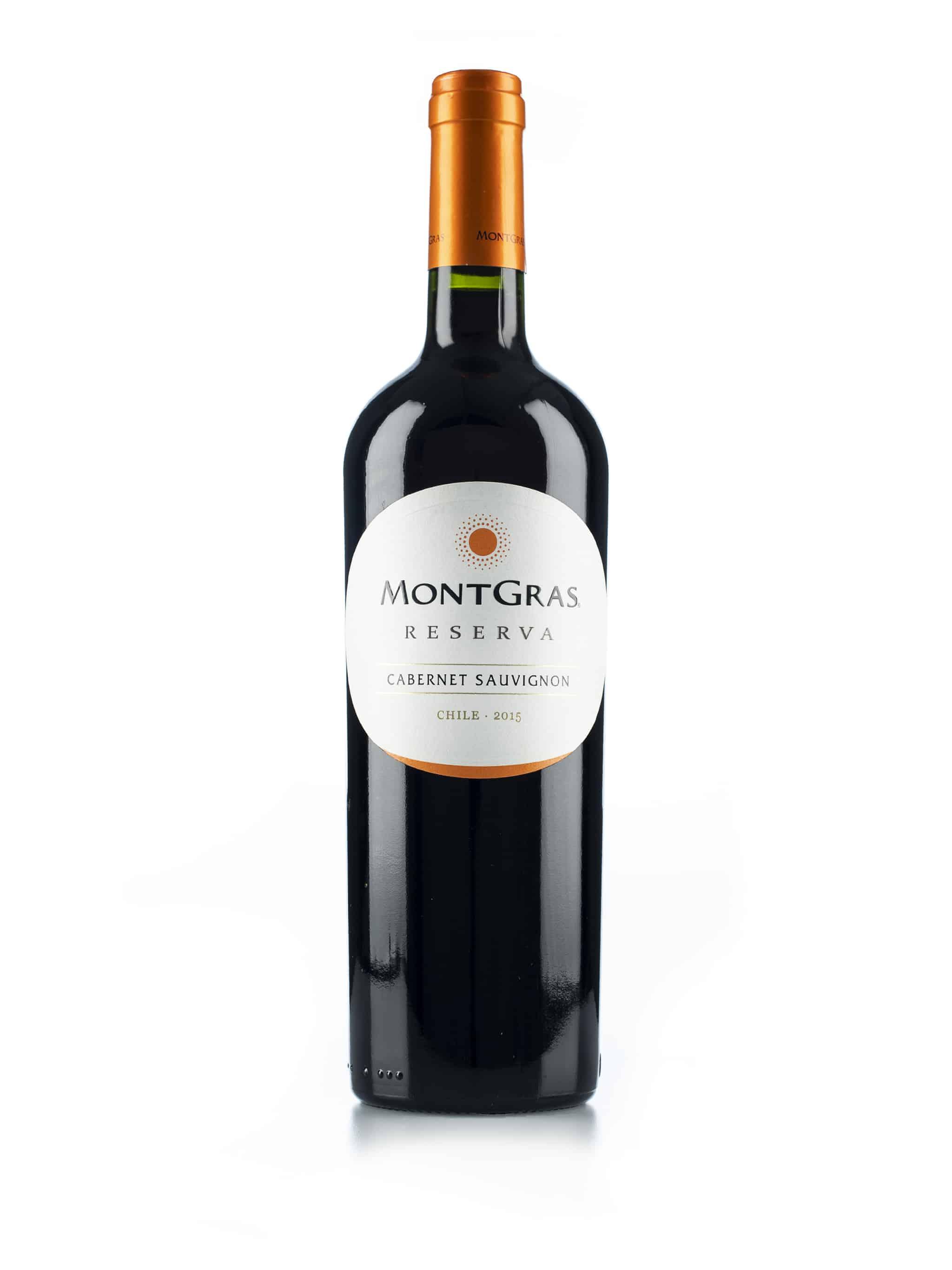 Chileense rode wijn van wijndomein Montgras: Cabernet Sauvignon 'Reserva'