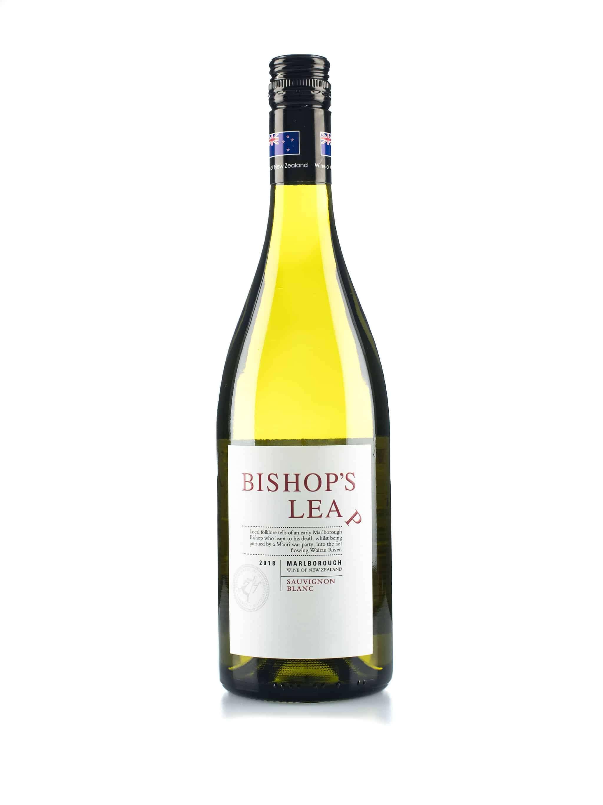 Nieuw-Zeelandse witte wijn van wijndomein Saint Clair: Sauvignon Blanc 'Bishop's Leap'