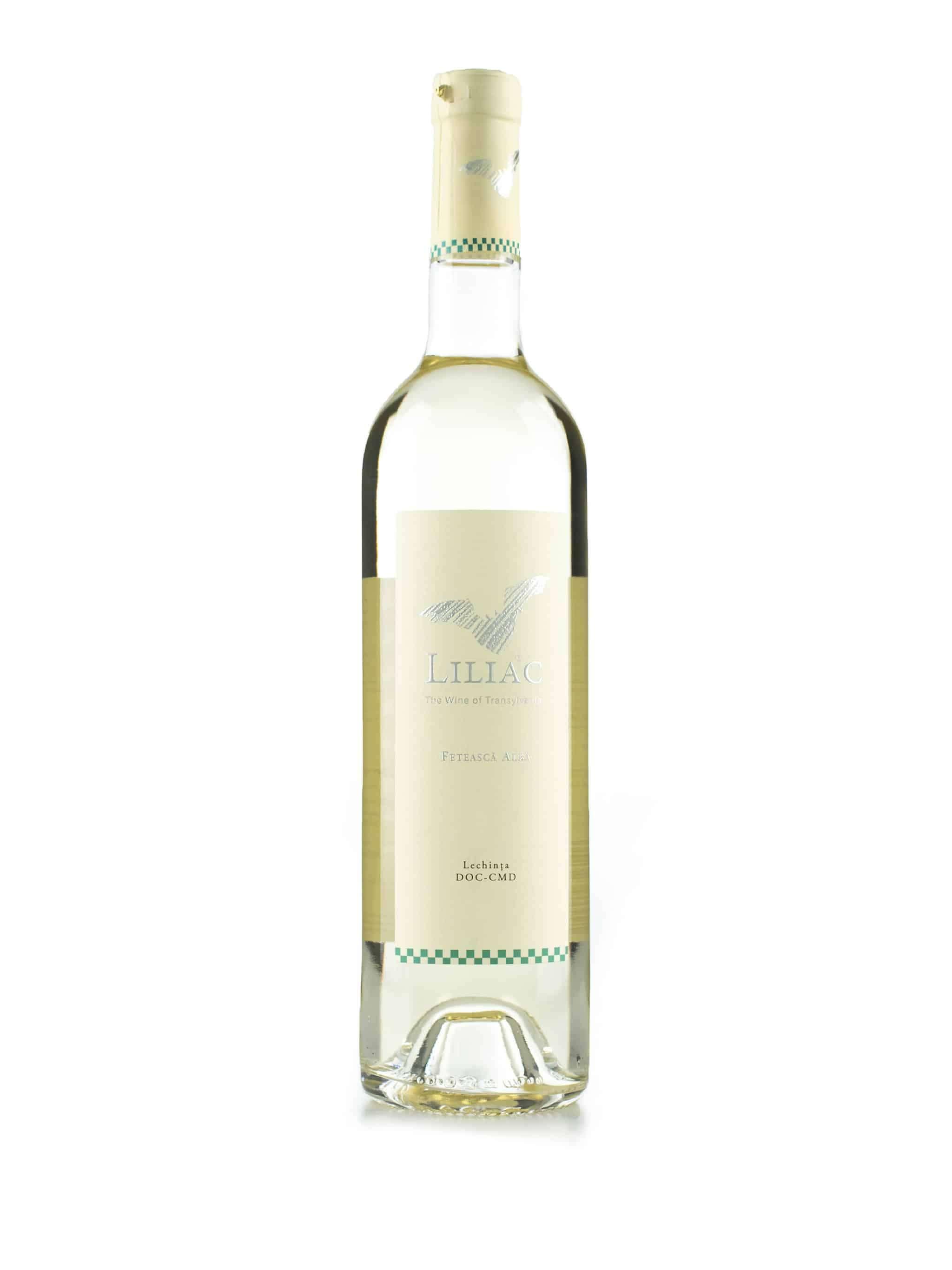 Roemeense witte wijn van wijndomein Liliac: Feteasca Alba