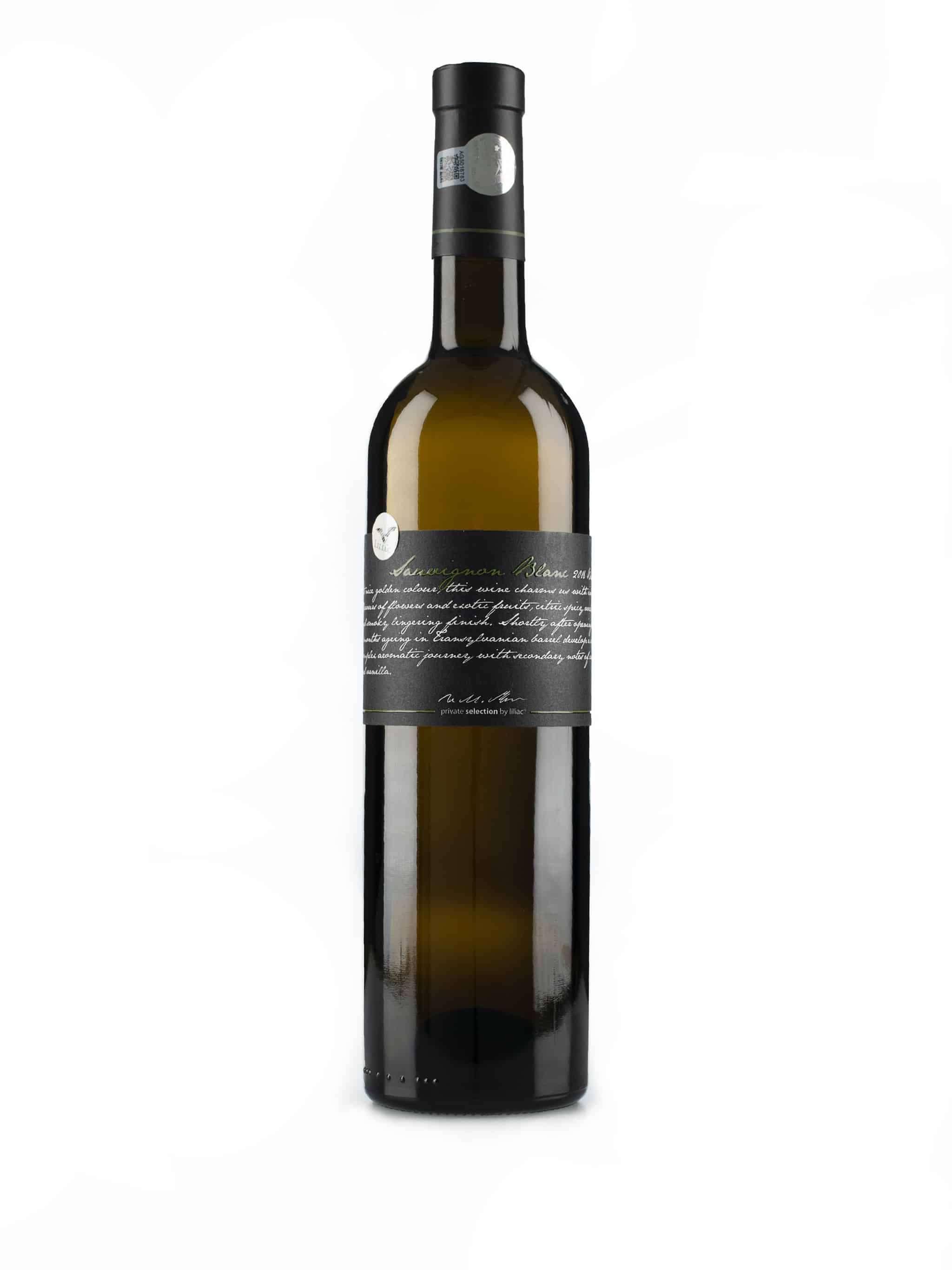 Roemeense witte wijn van wijndomein Liliac: Sauvignon Blanc 'Private Selection'